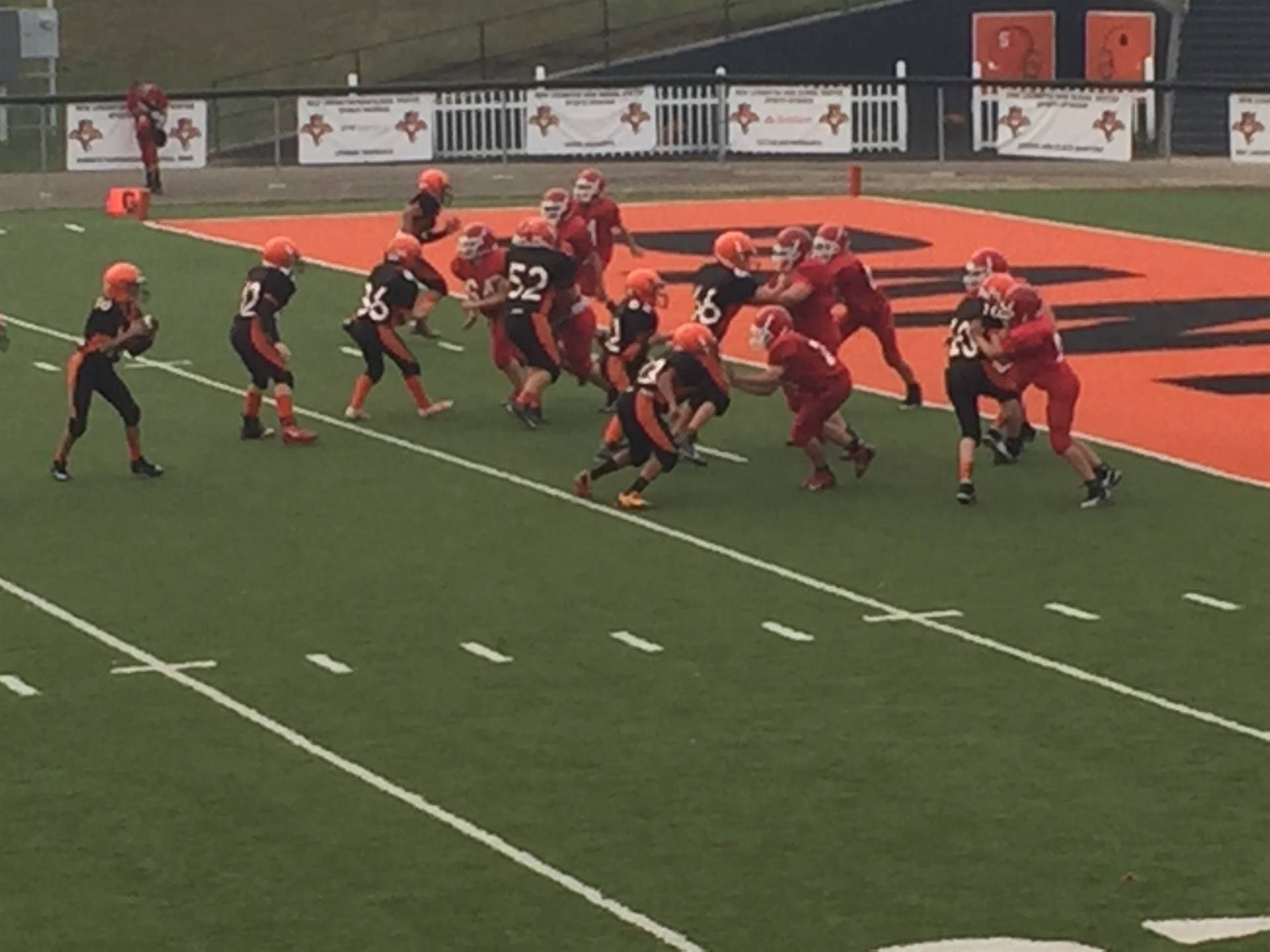 7th grade pushing for another TD!