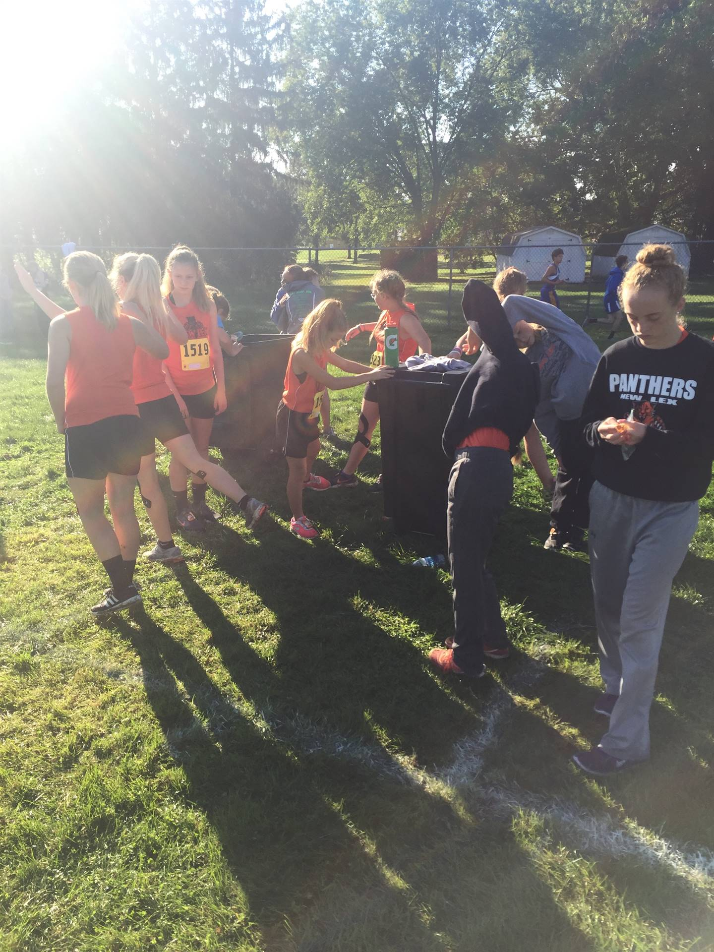 NLMS Girls CC before their Runner-Up MVL Championship Performance