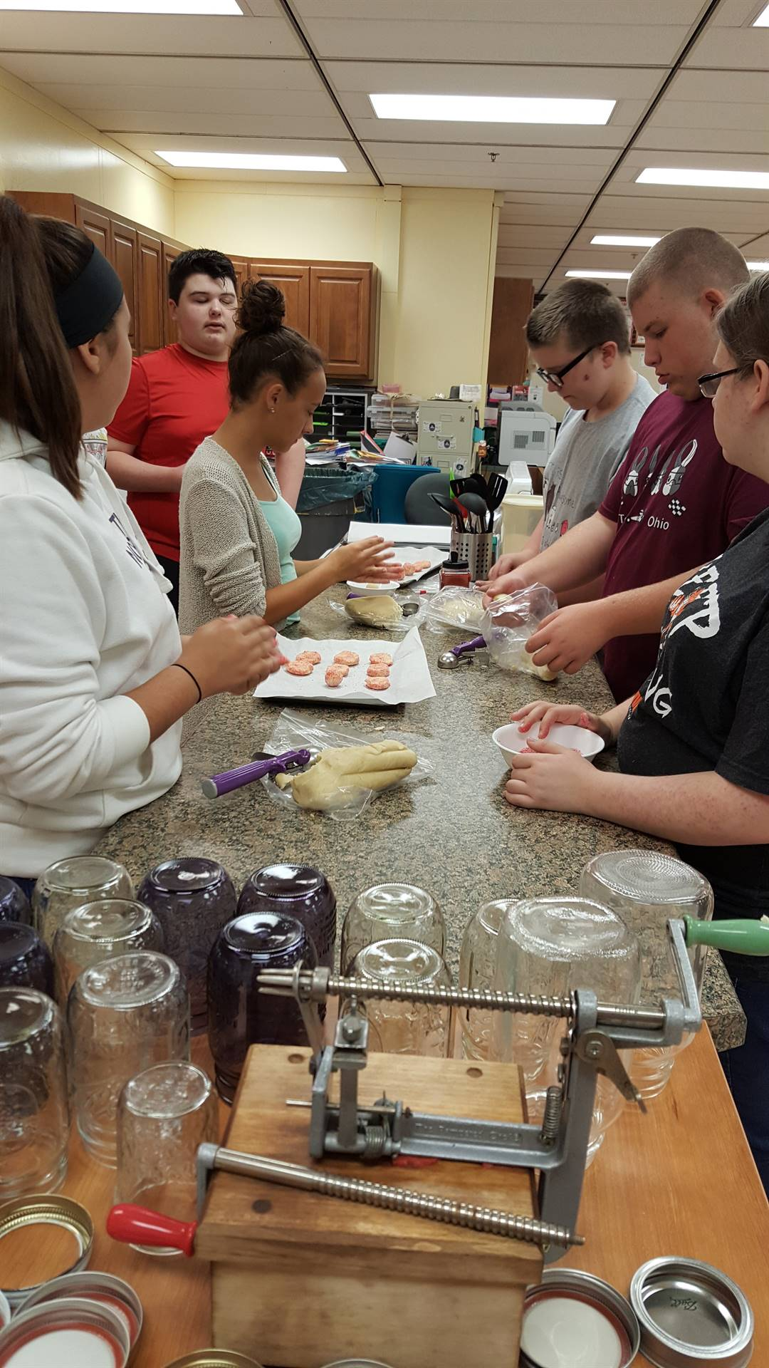 FCCLA baking cookies