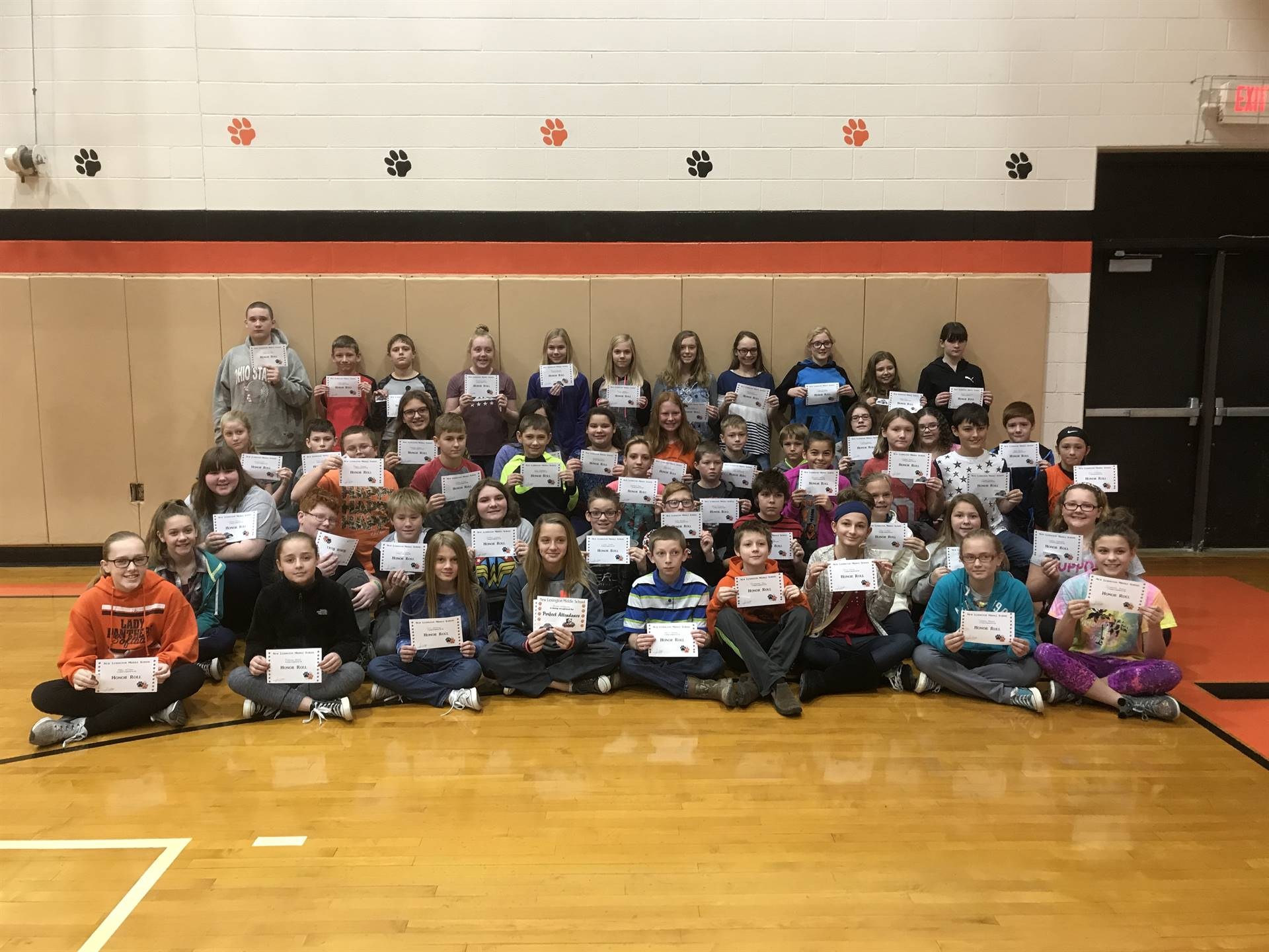 6th Grade Honor Roll (1st Quarter)