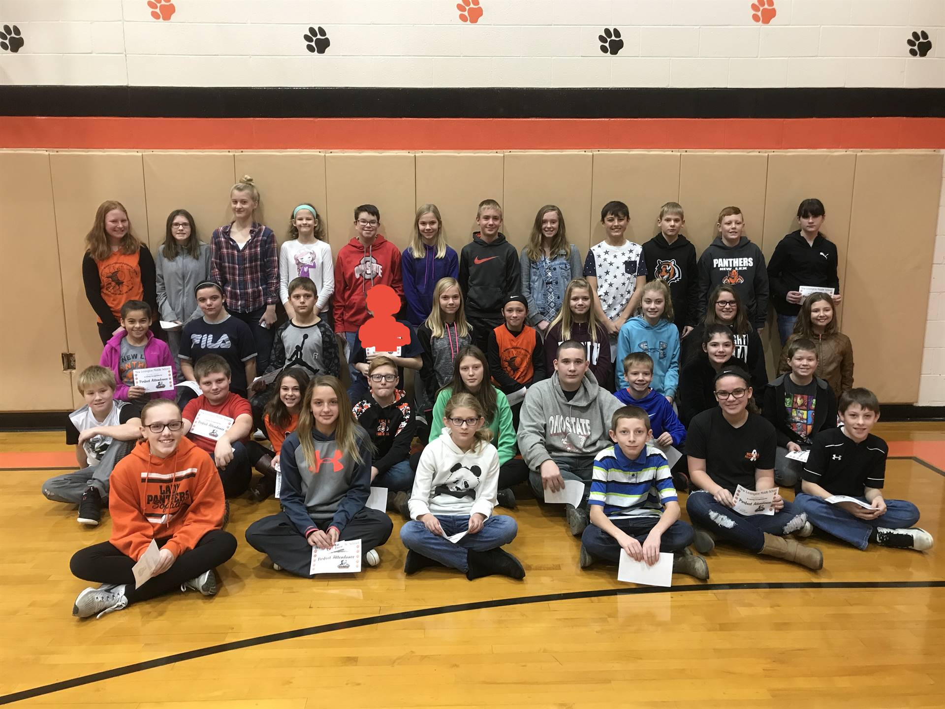 6th Grade Perfect Attendance (1st Quarter)
