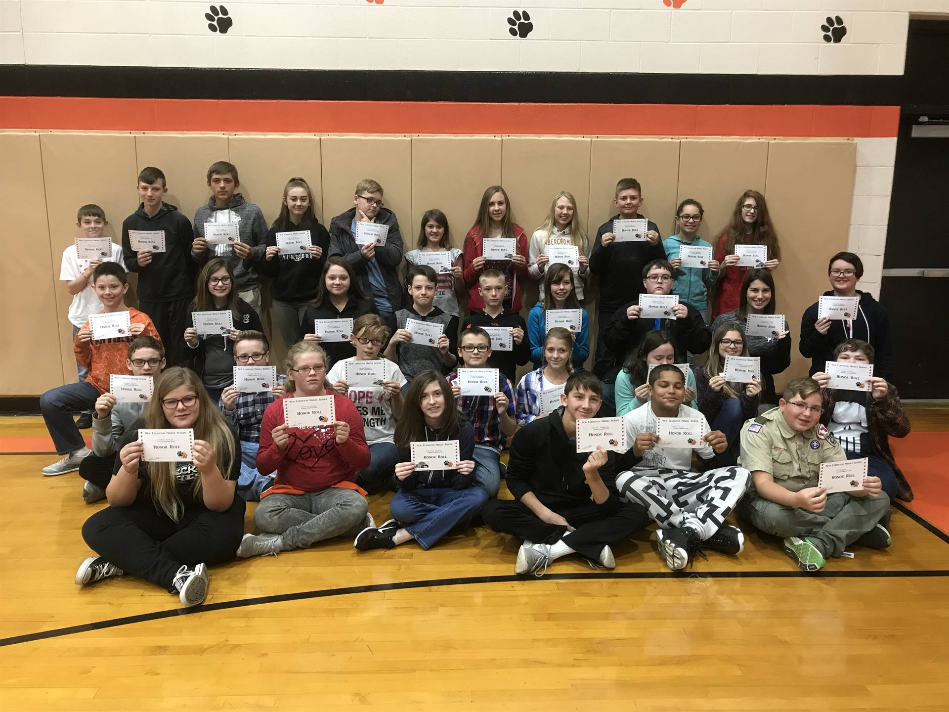 7th Grade Honor Roll (1st Quarter)