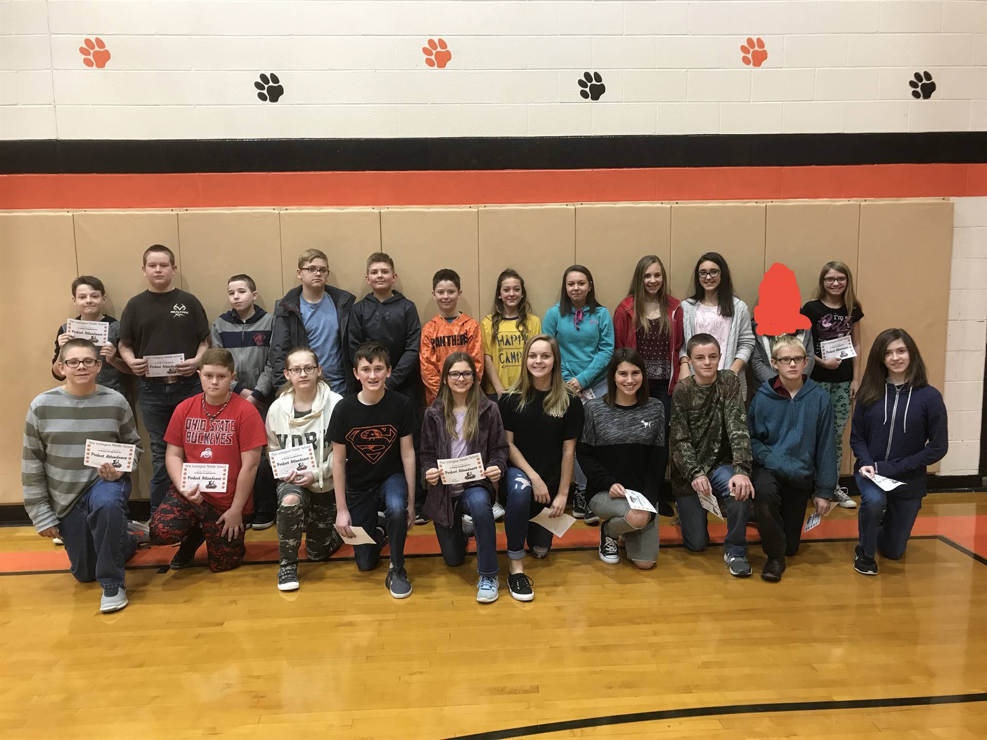 7th Grade Perfect Attendance (1st Quarter)