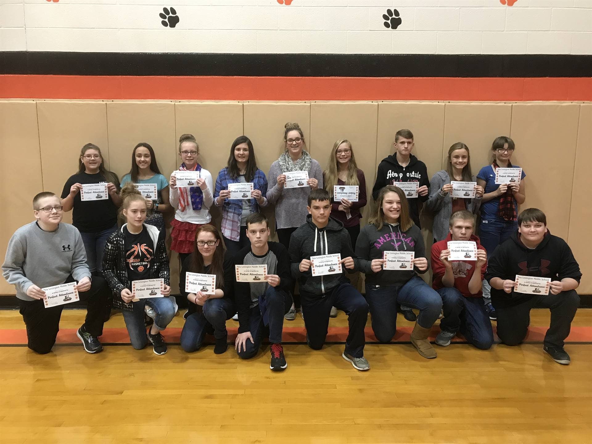 8th Grade Perfect Attendance (1st Quarter)