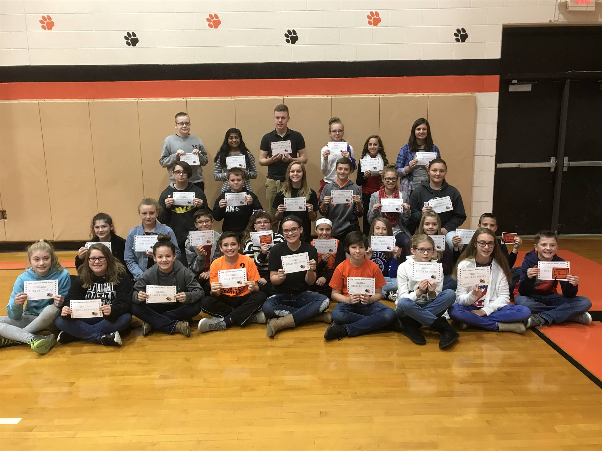 1st Quarter High Honors Recipients