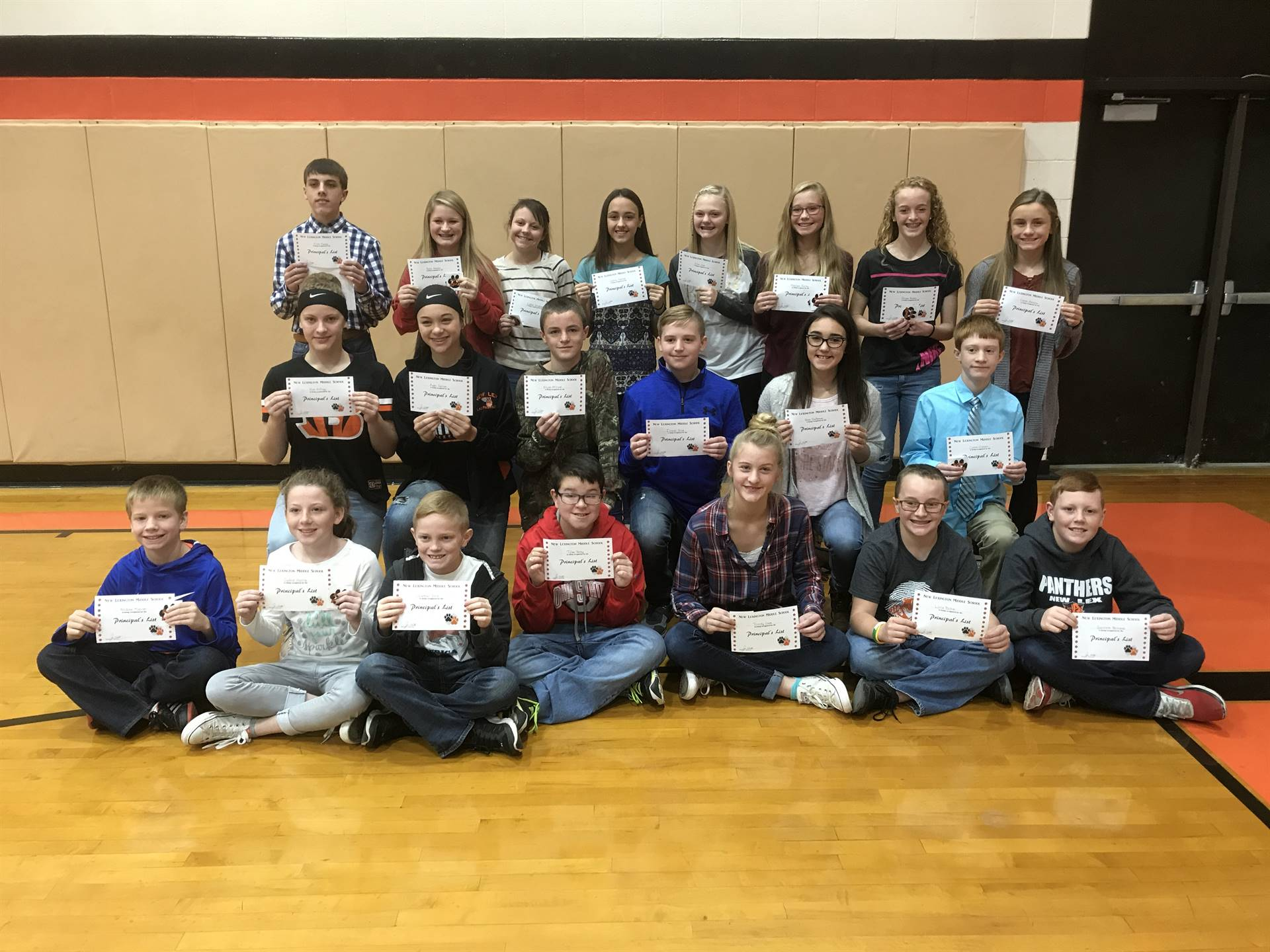 1st Quarter Principal's List Recipients