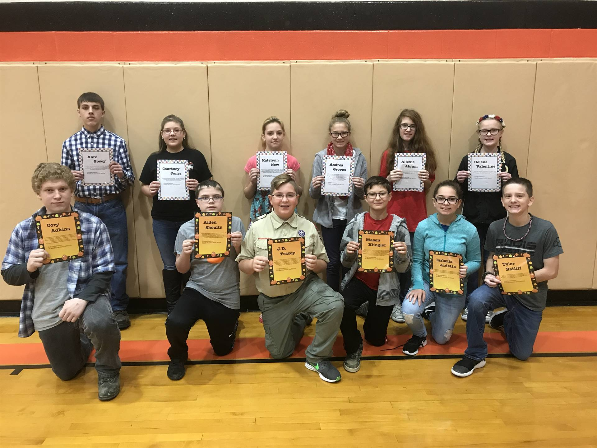 September and October Students of the Month
