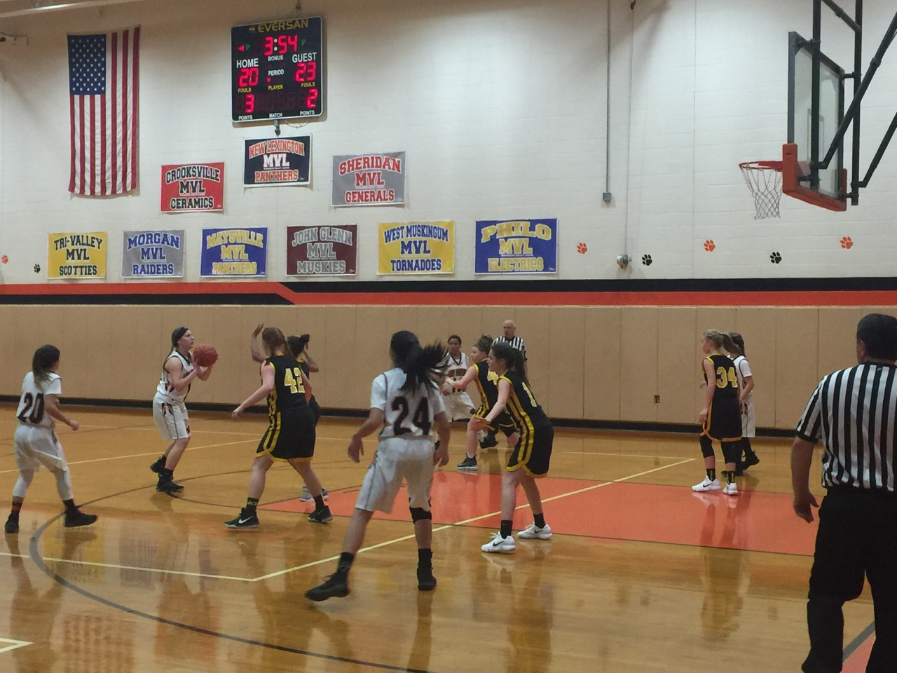 7th grade girls against Tri-Valley