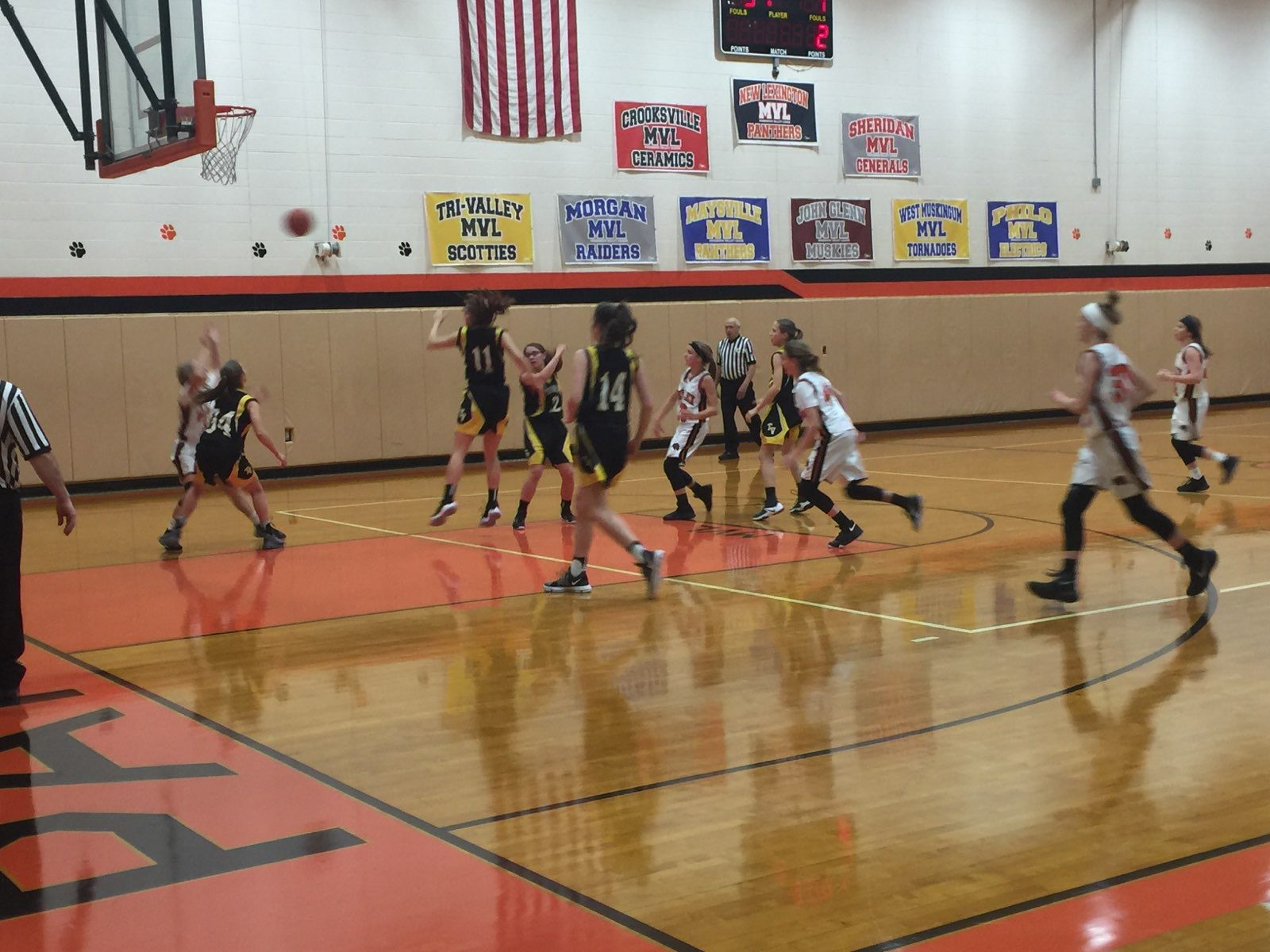 8th grade girls against Tri-Valley