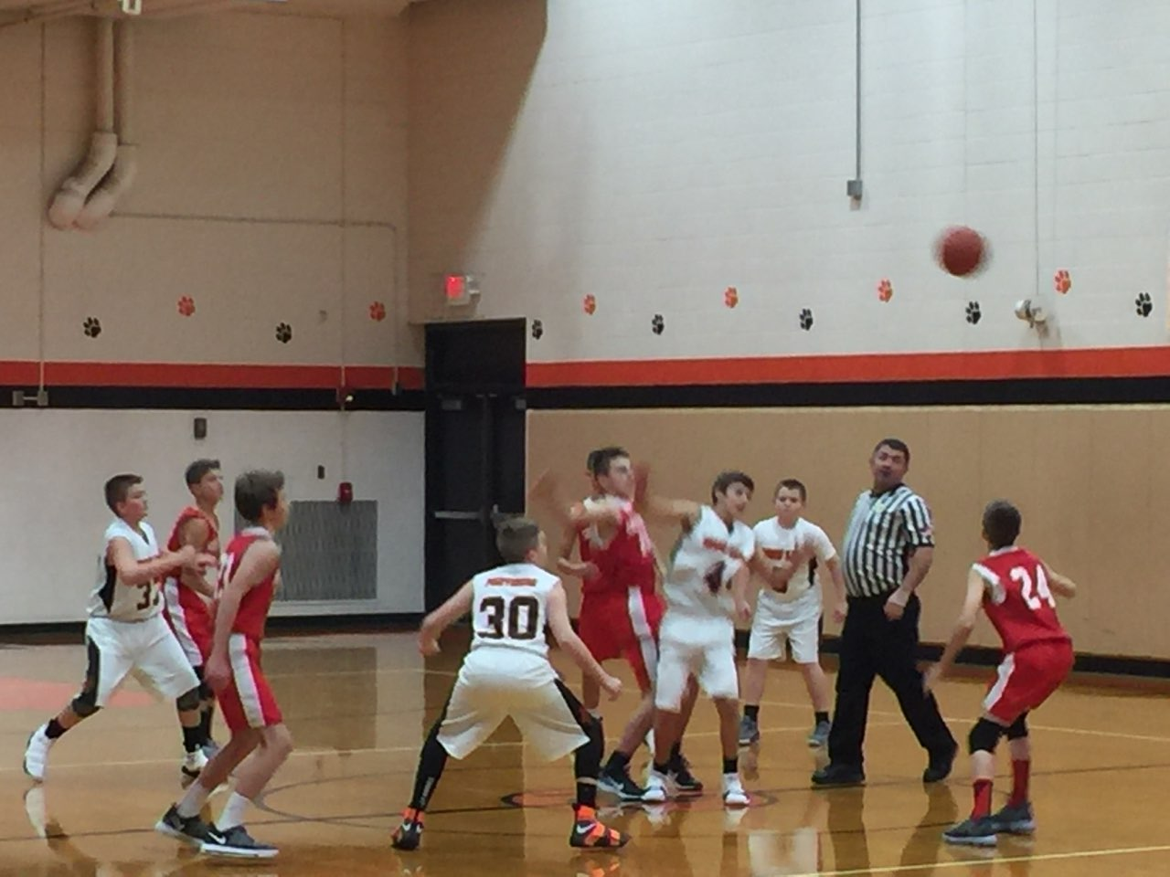 7th grade boys playing against Sheridan.