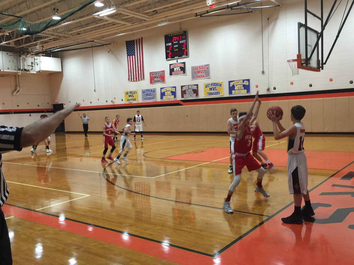 8th grade boys playing against Sheridan.