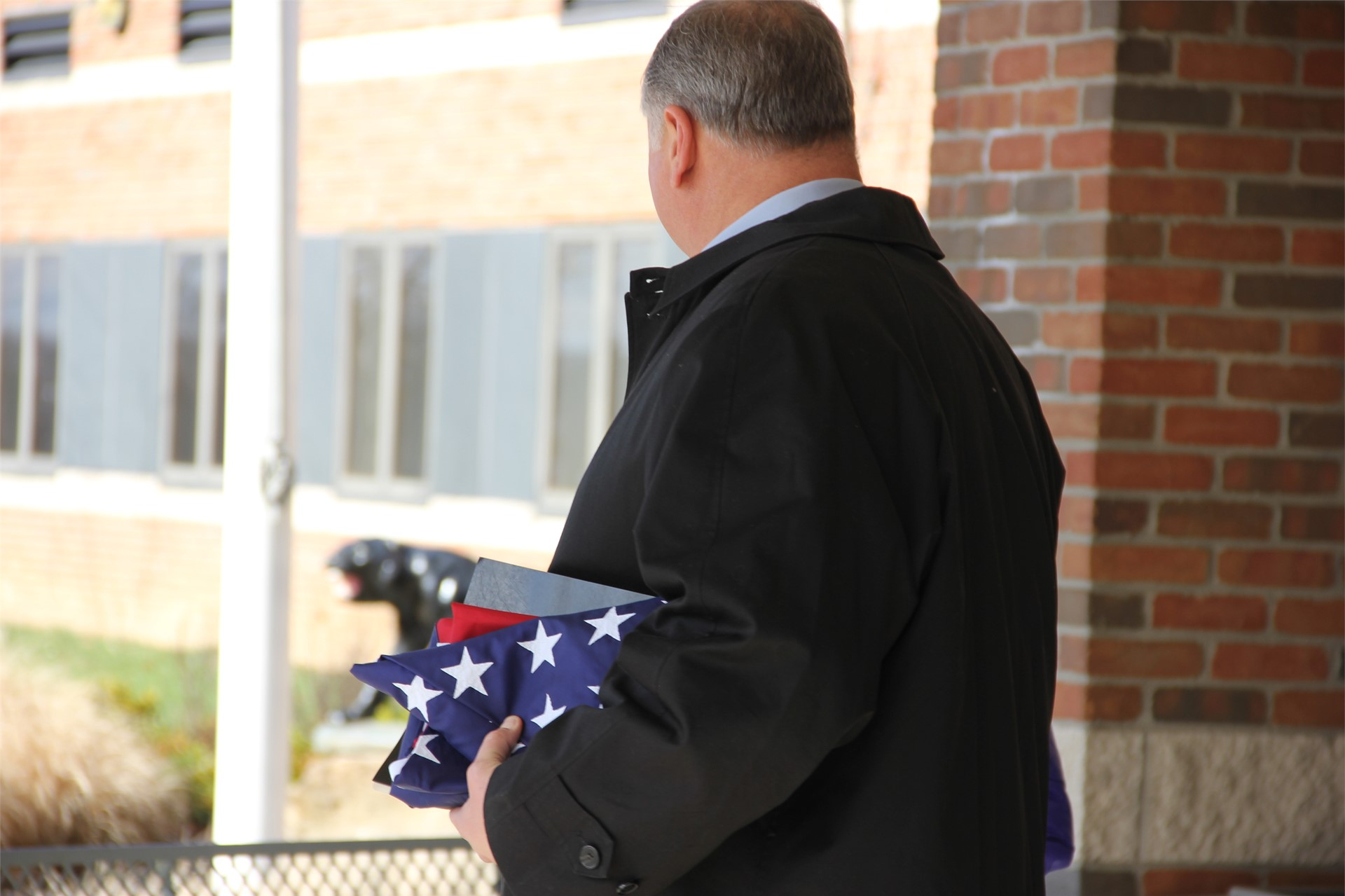 Representative Householder at the March 2017 Flag Ceremony