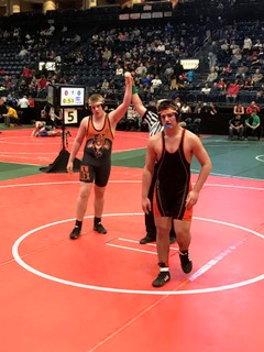 MS Wrestler at State Tournament