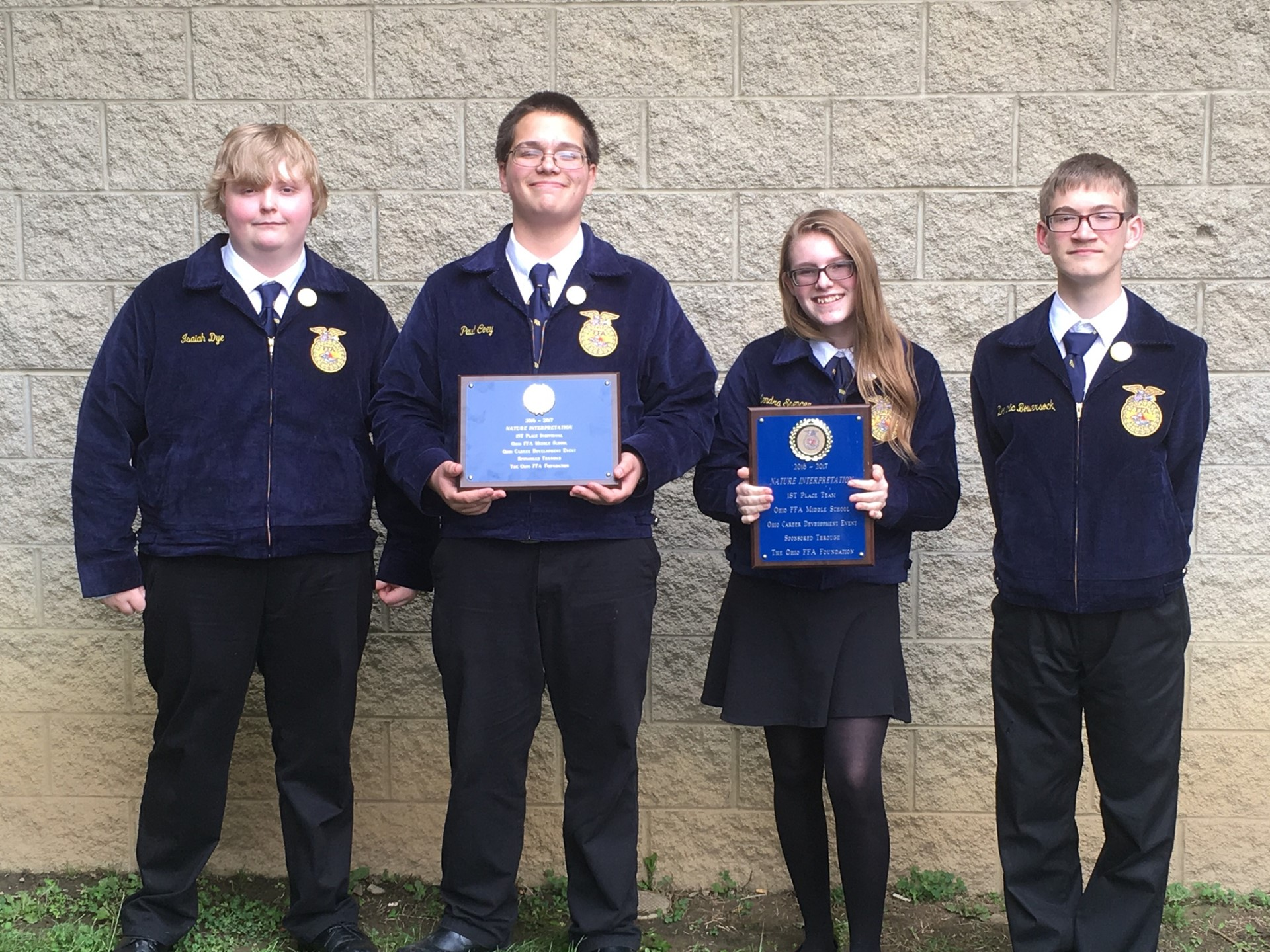 Middle School FFA Nature State Champions