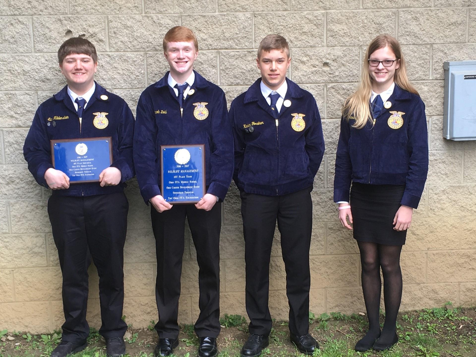Middle School FFA Wildlife State Champions