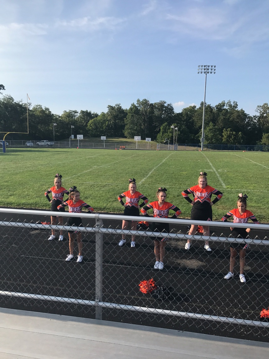 Cheerleaders at the West Muskingum football game