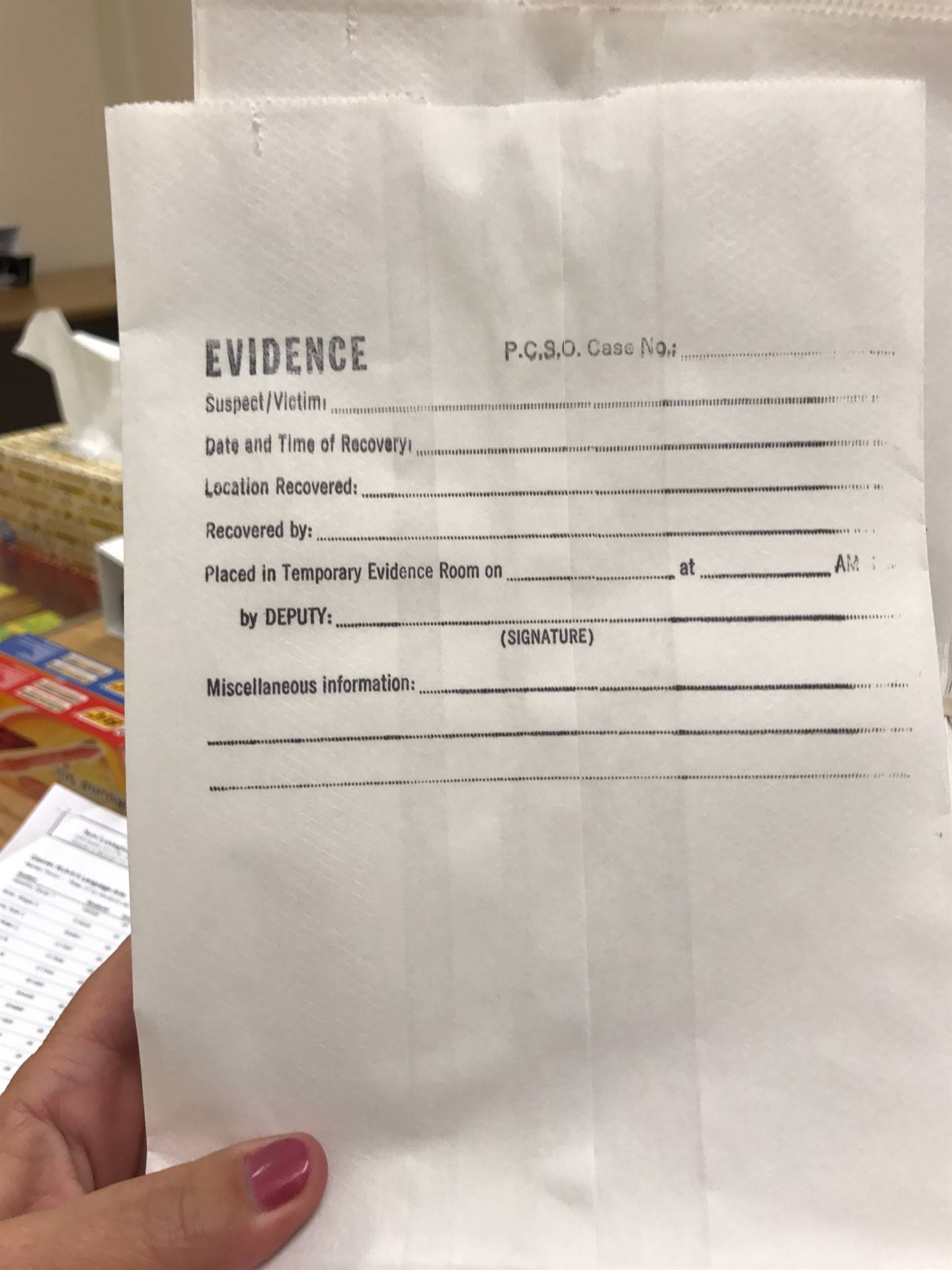 "Thank you to Bill Padgett and the Perry County Sheriff's Office for donating evidence bags for our teachers to use for textual ""evidence"" in or ELA classes."