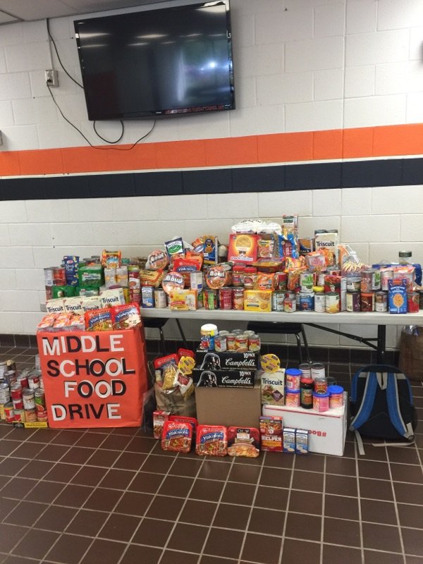 Food Drive was a huge success!
