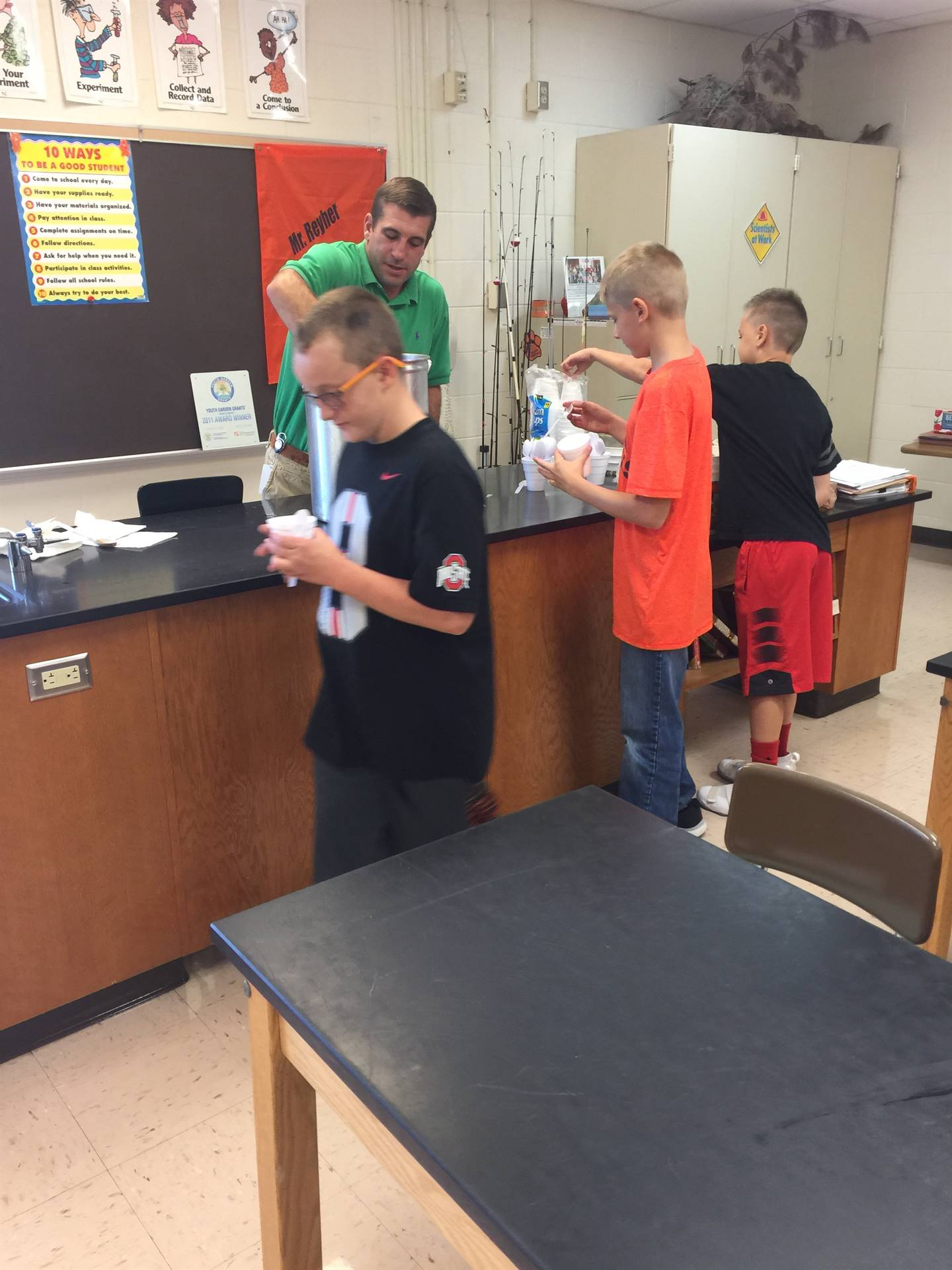 Stone soup for Mr. Reyer's 6th grade science class.