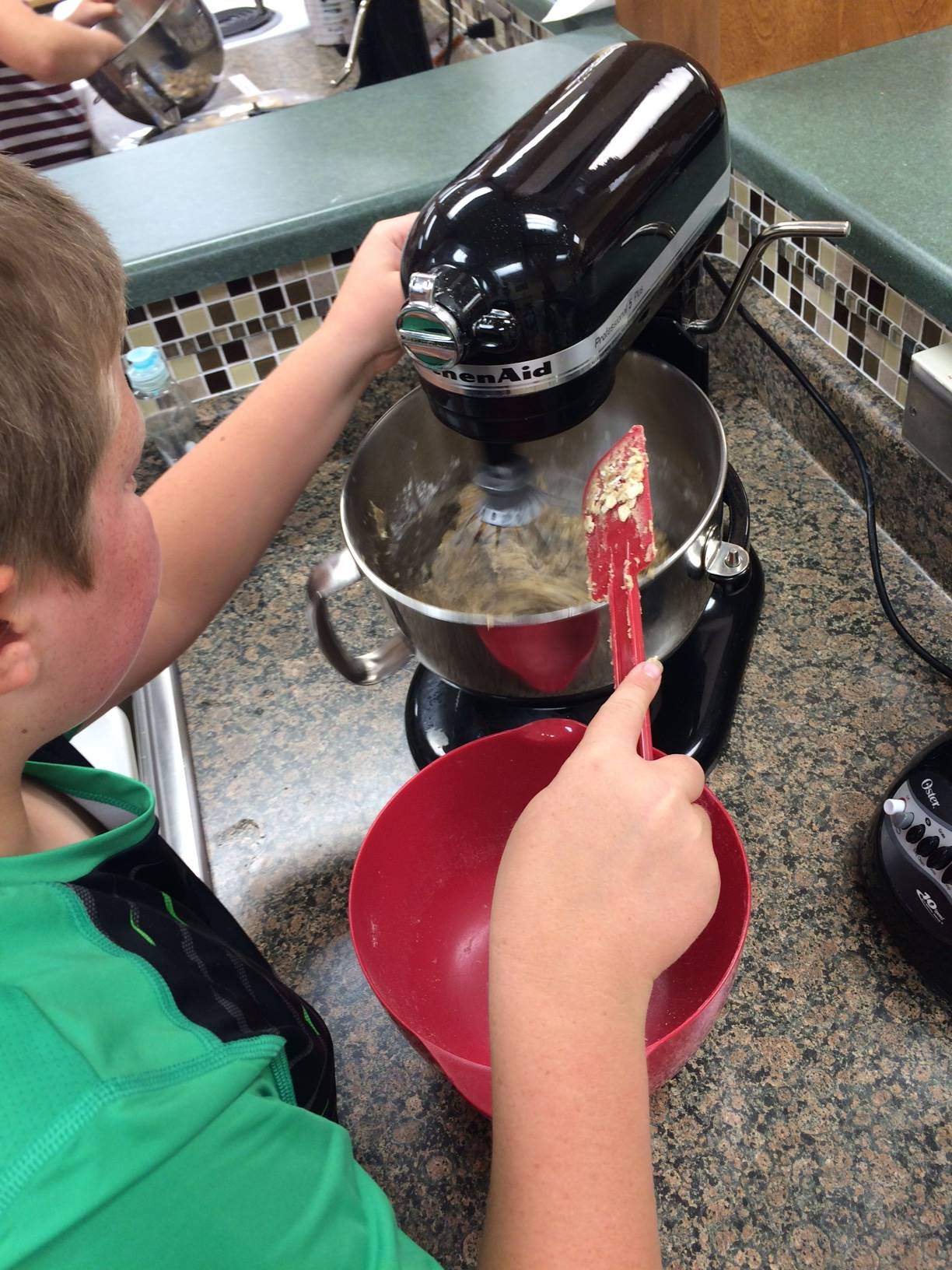 Learning to bake is fun, but kitchen safety is important.