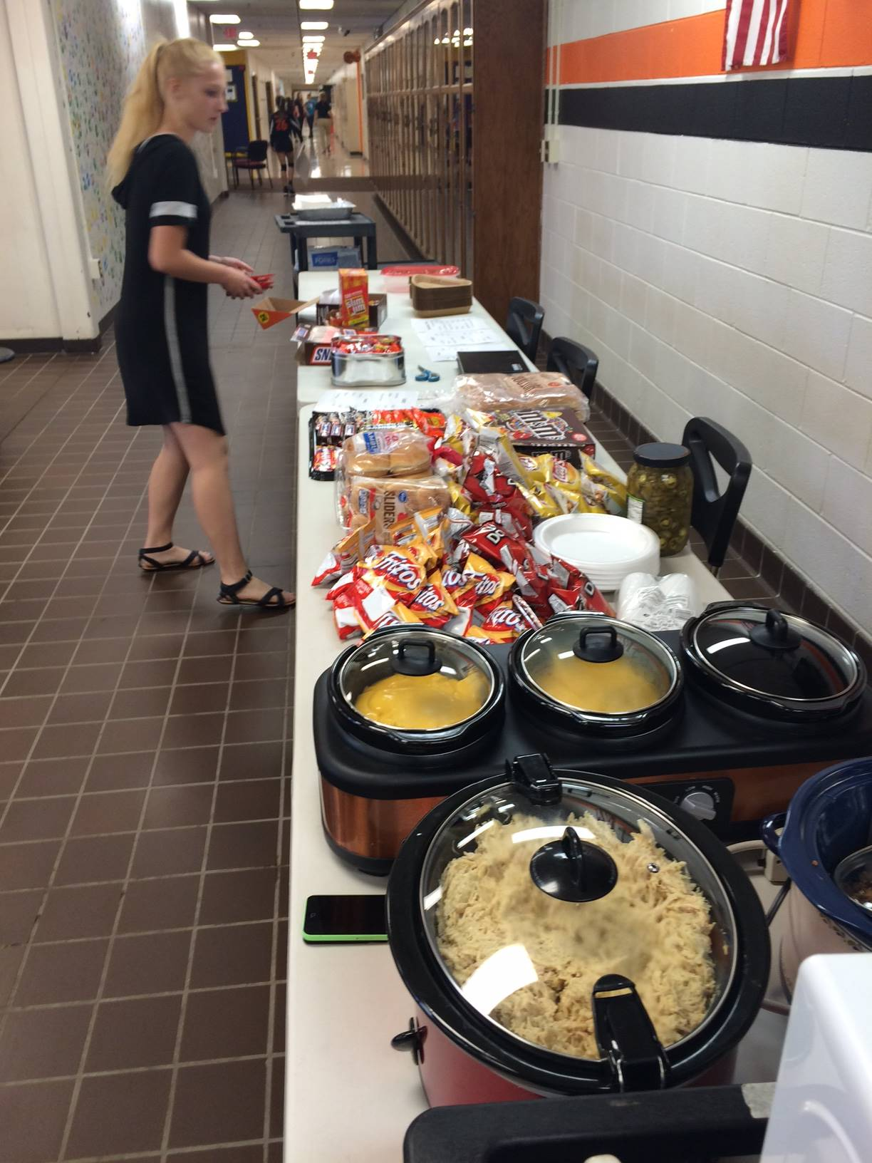 Concession Stand for Volleyball Attendees