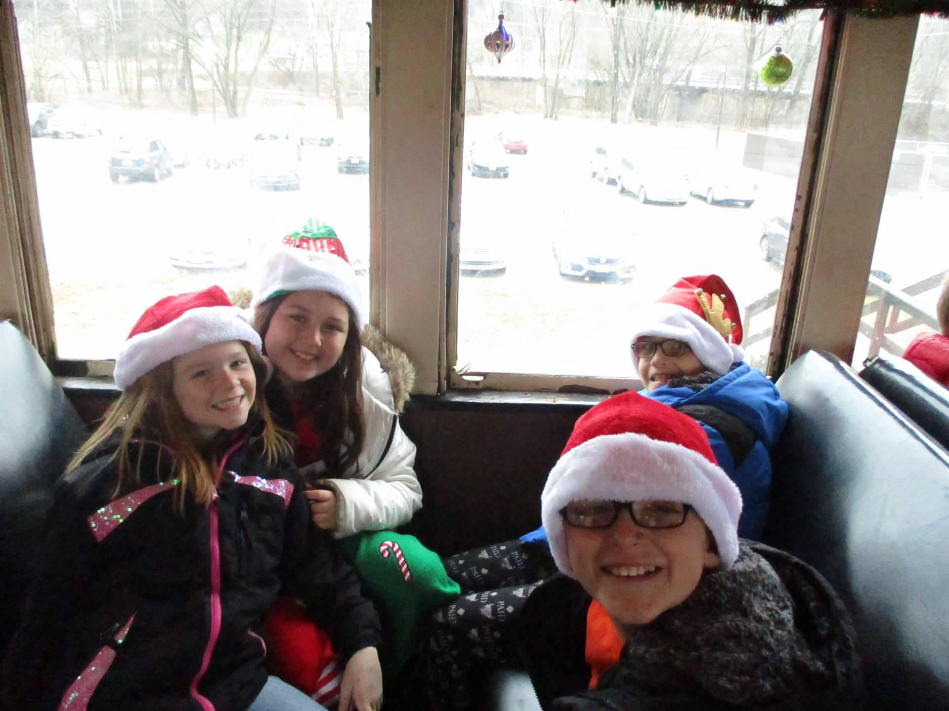 train ride with Santa