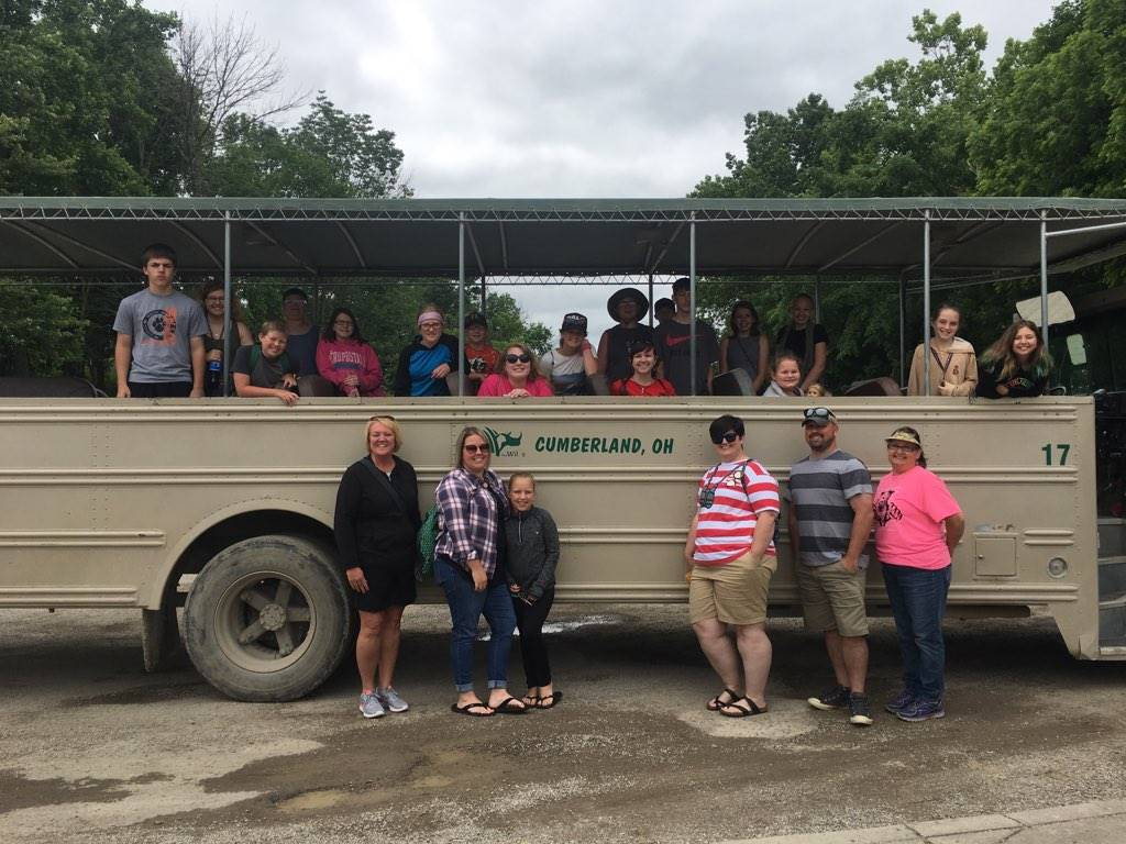 Afterschool students visiting the Wilds as a part of the summer program.