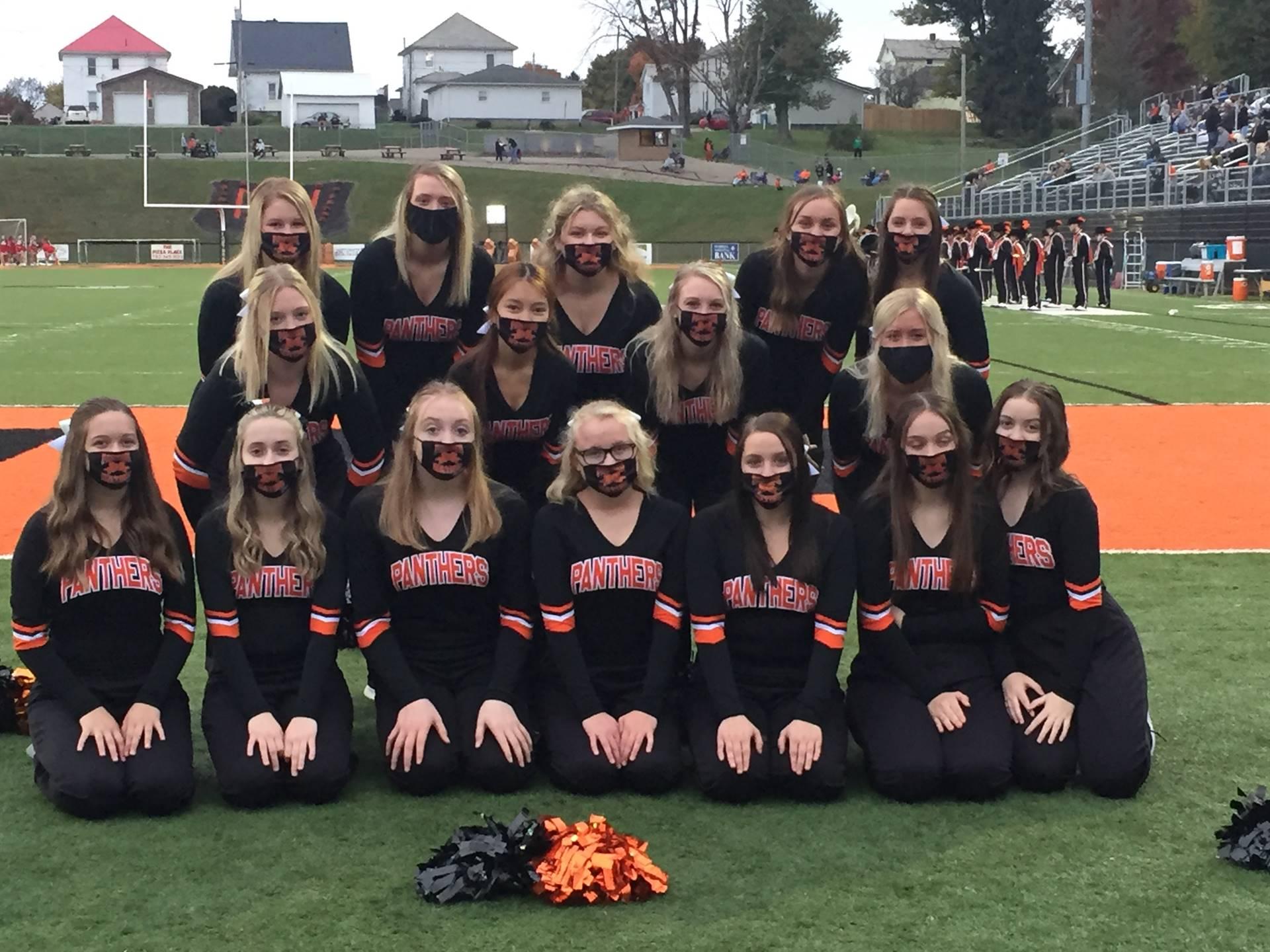 Cheerleaders at Playoff Game vs. Westfall