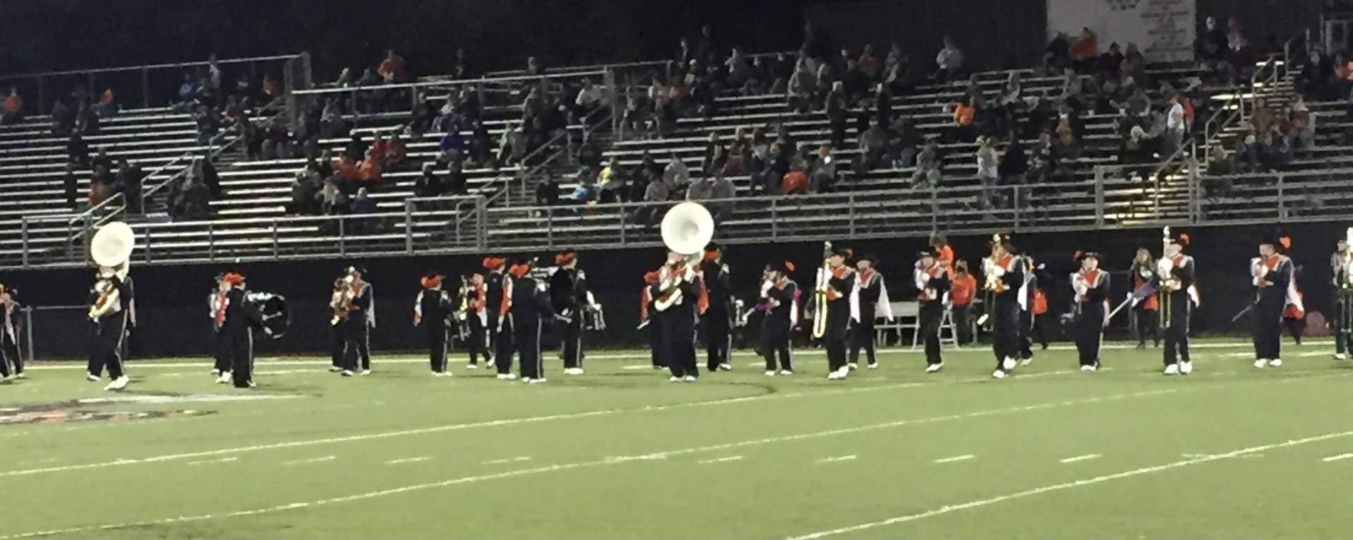 Marching Band performing at home vs Westfall