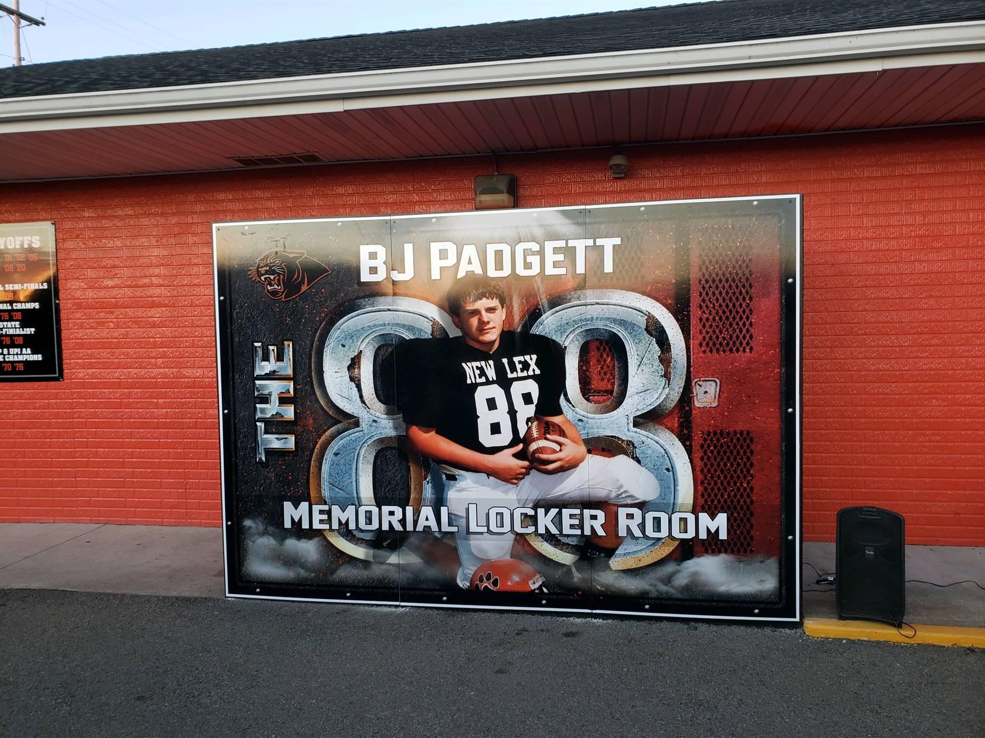 BJ Badgett Locker Room Dedication