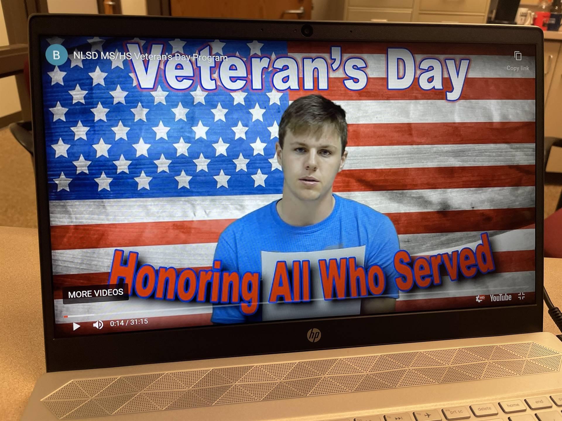 Veteran's Day Virtual Assembly