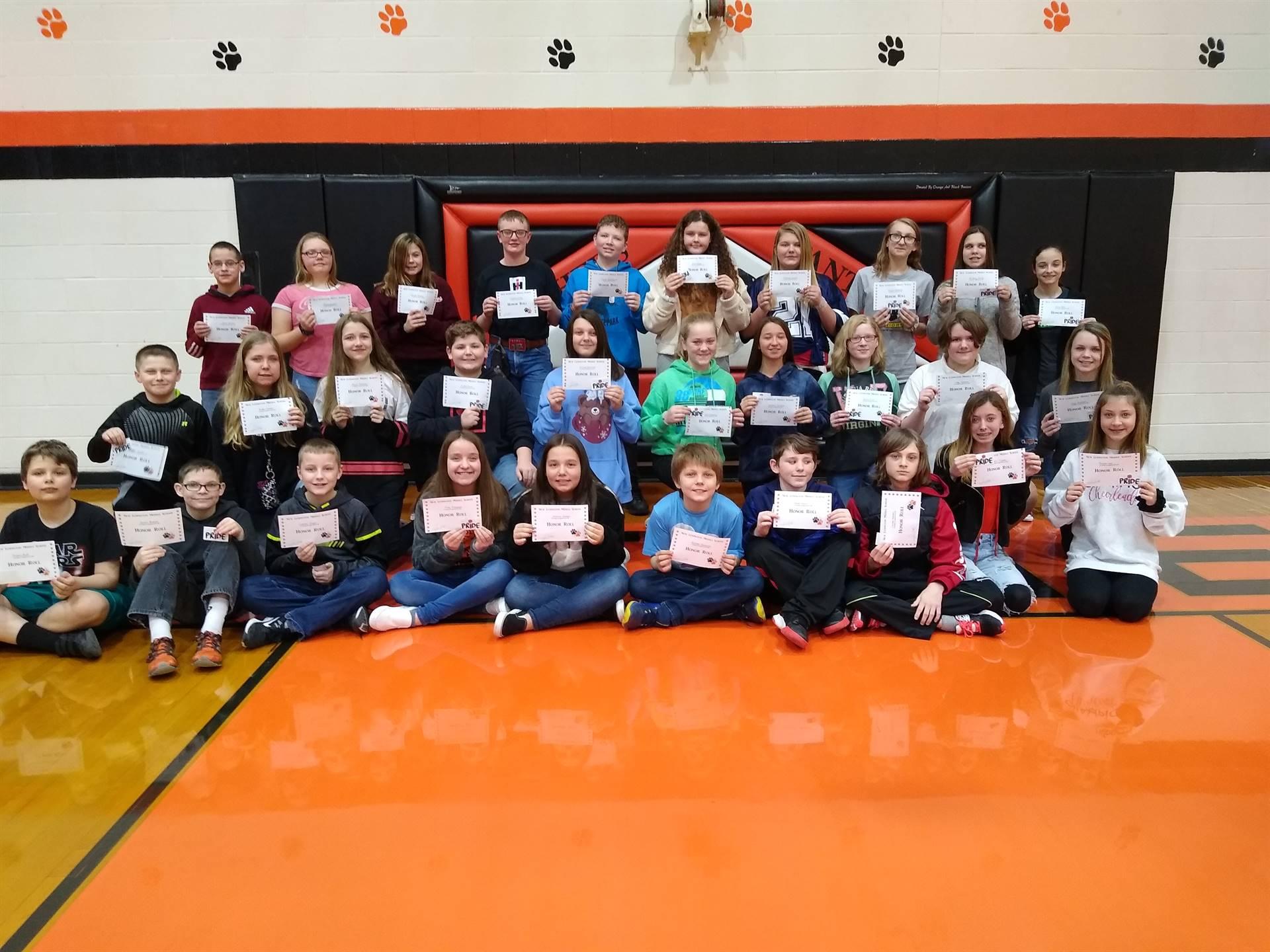 6th Grade Students on Principal's List