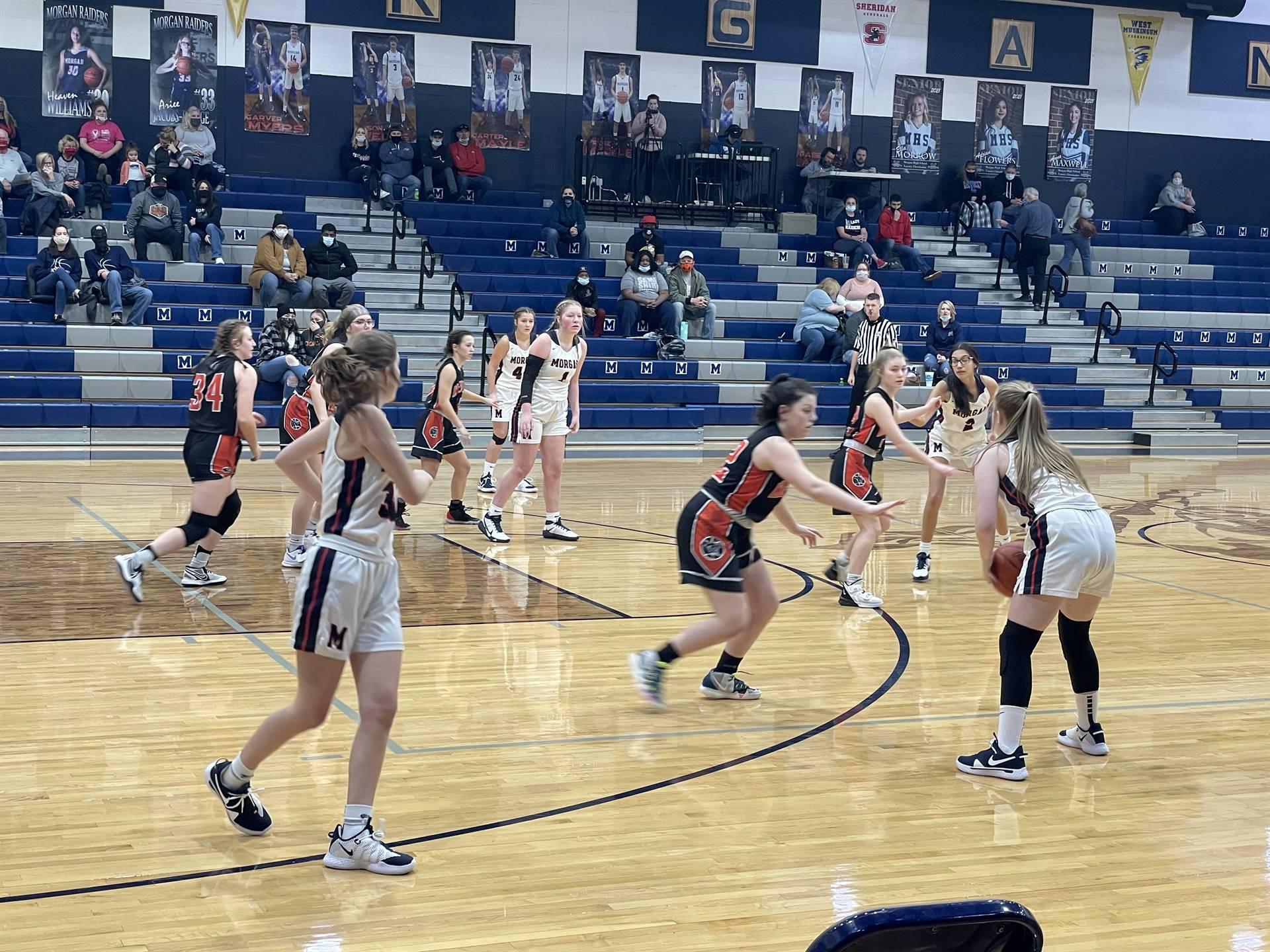 JV Girls Basketball taking on Morgan