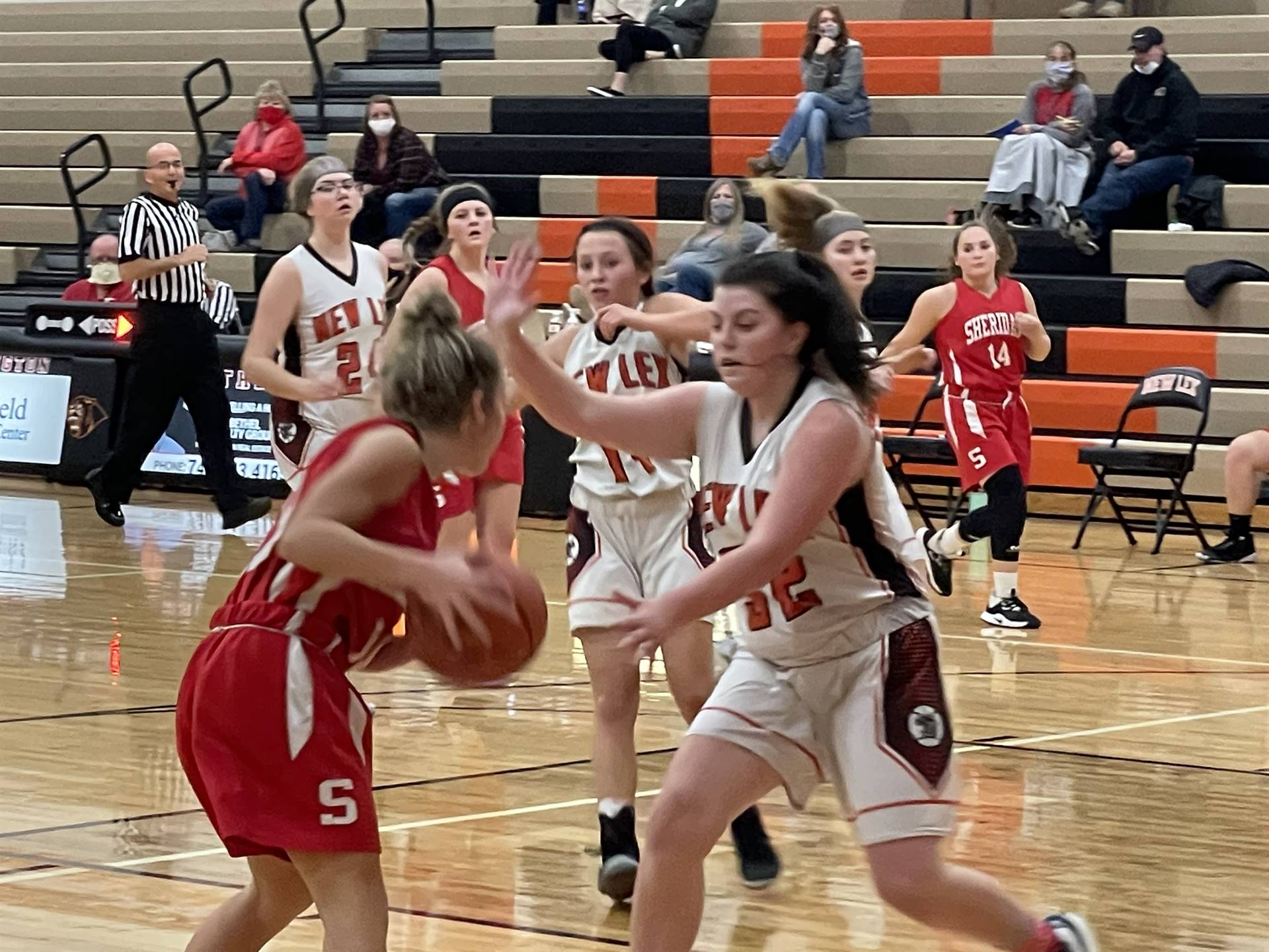 Varsity Girls Basketball taking on Sheridan
