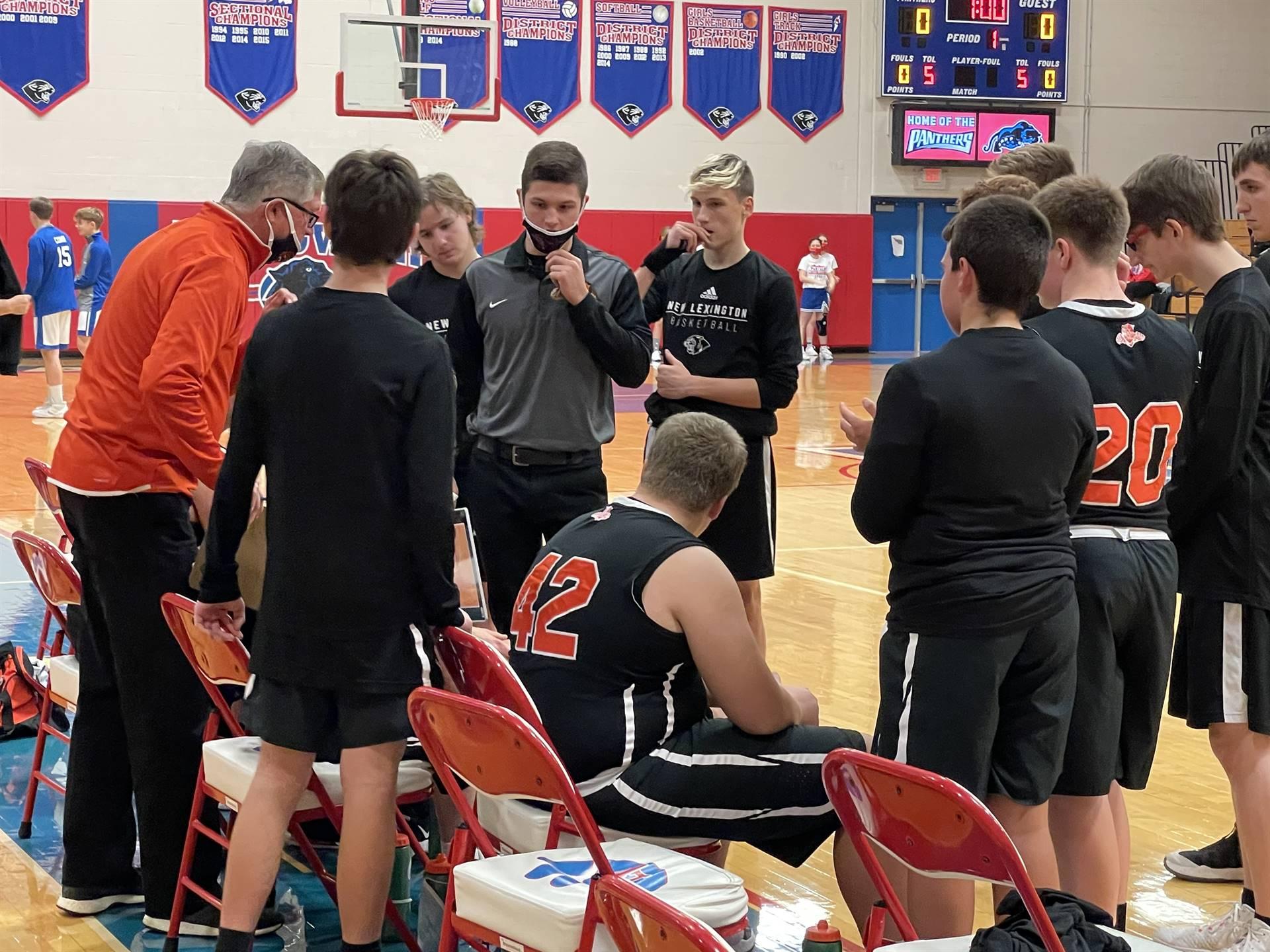 JV Basketball taking on Licking Valley