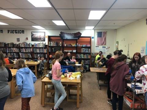 AfterSchool Breakfast Dinner in the Media Center