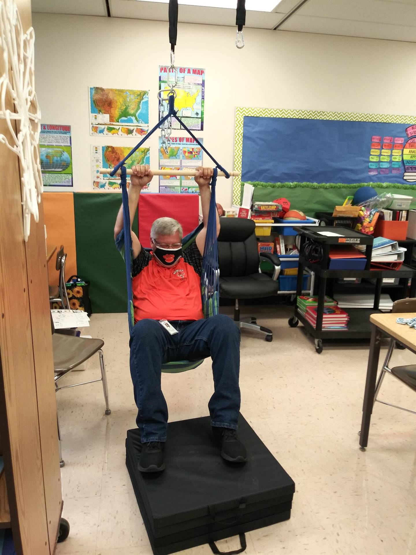 Mr. Watts Tries Sensory Swing