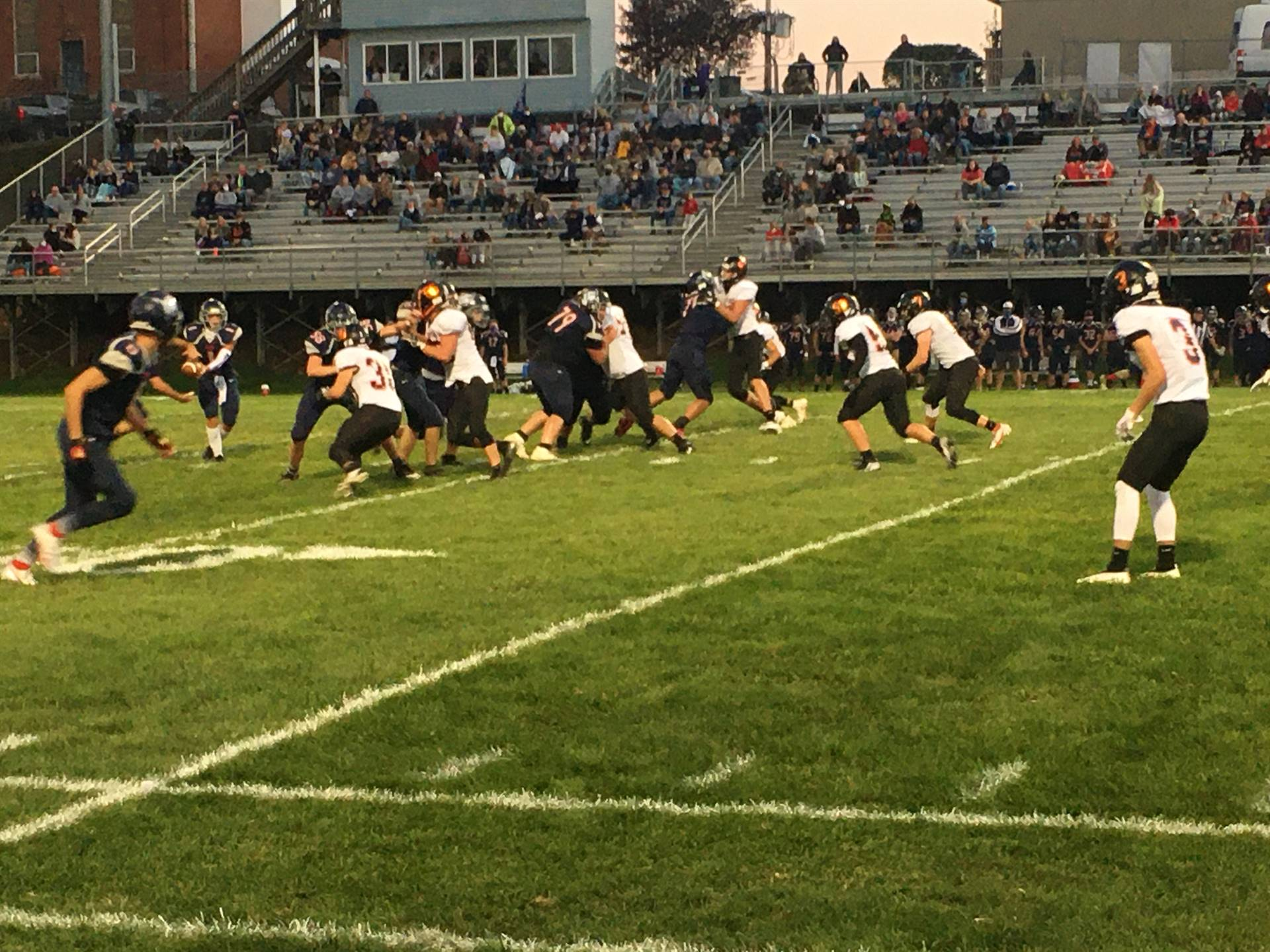 Varsity Football taking on Morgan