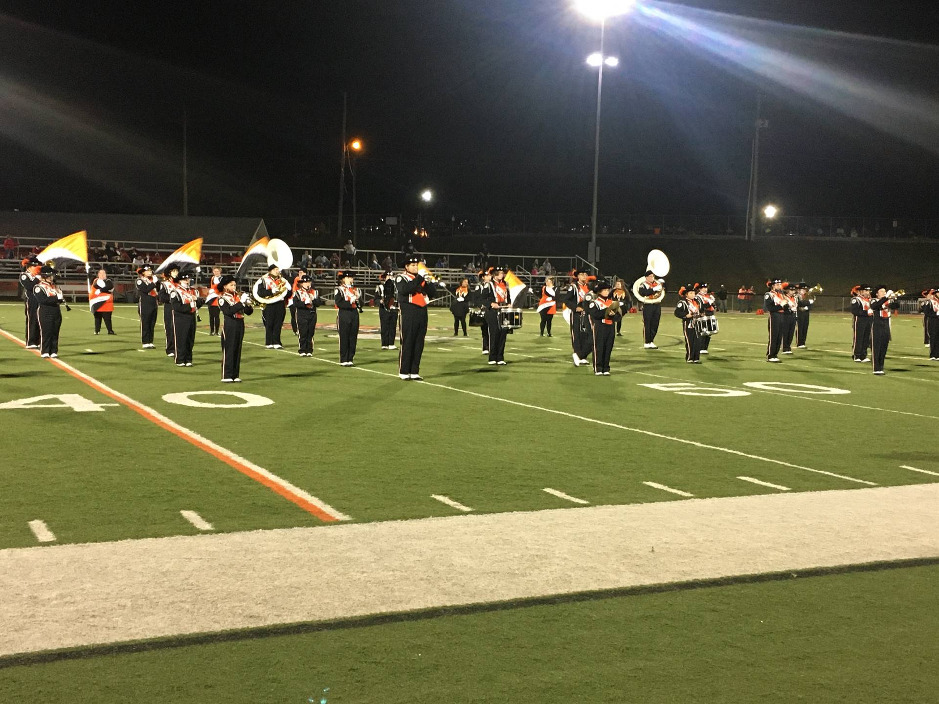 Marching Band Performing at Home vs Crooksville