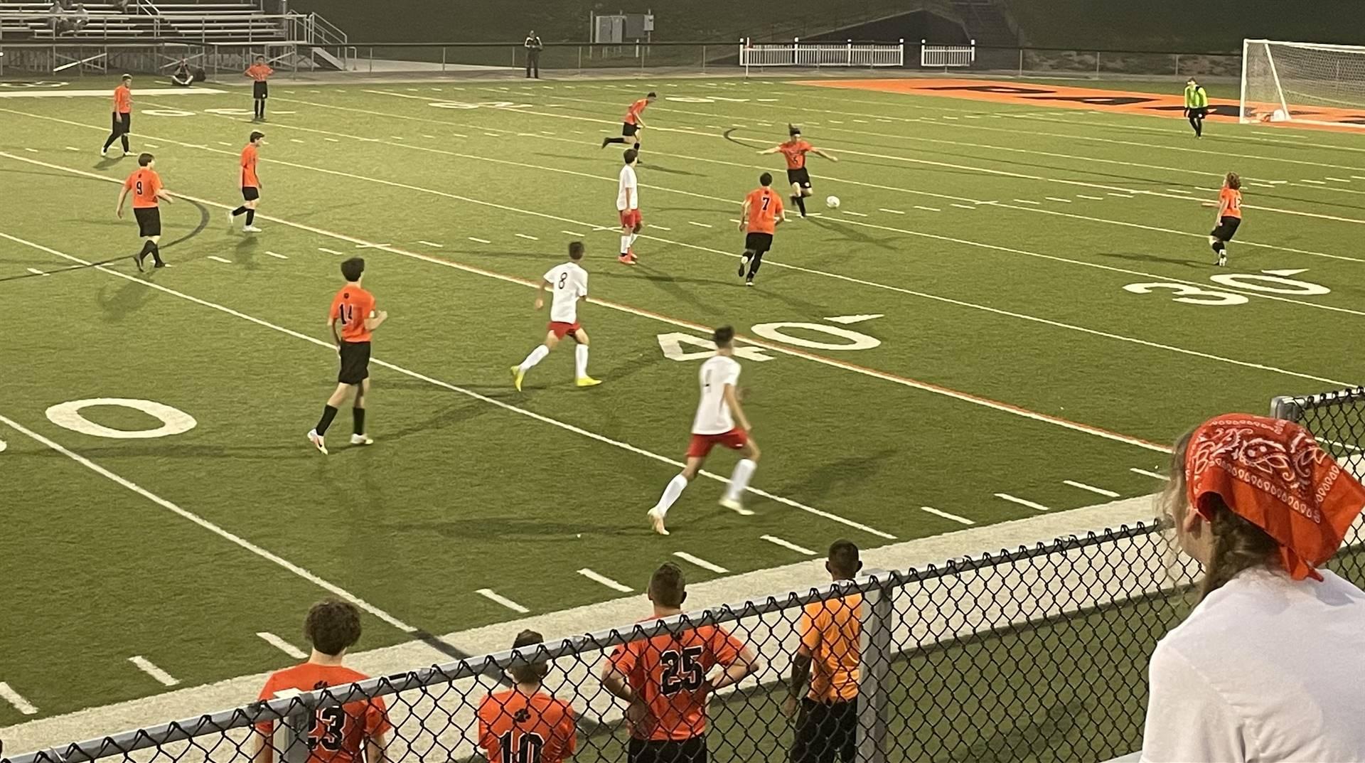 Boys Soccer Taking on Rosecrans at Home