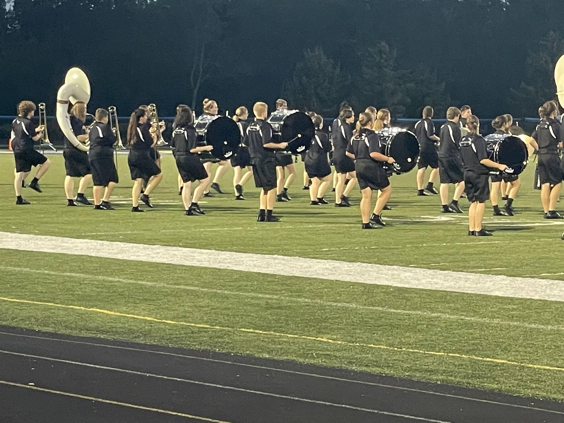 Marching Band Performing at Maysville