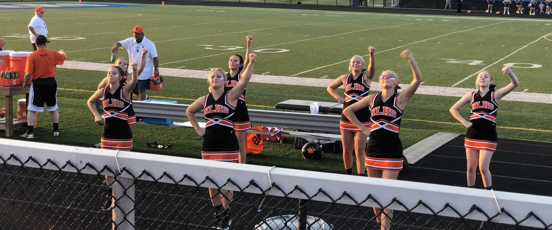 Varsity Cheerleaders at Maysville