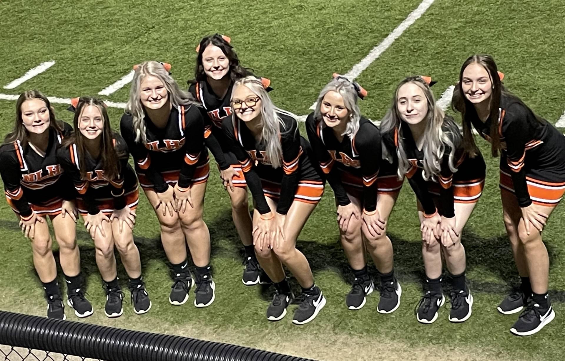 Varsity Cheerleaders at Home vs West