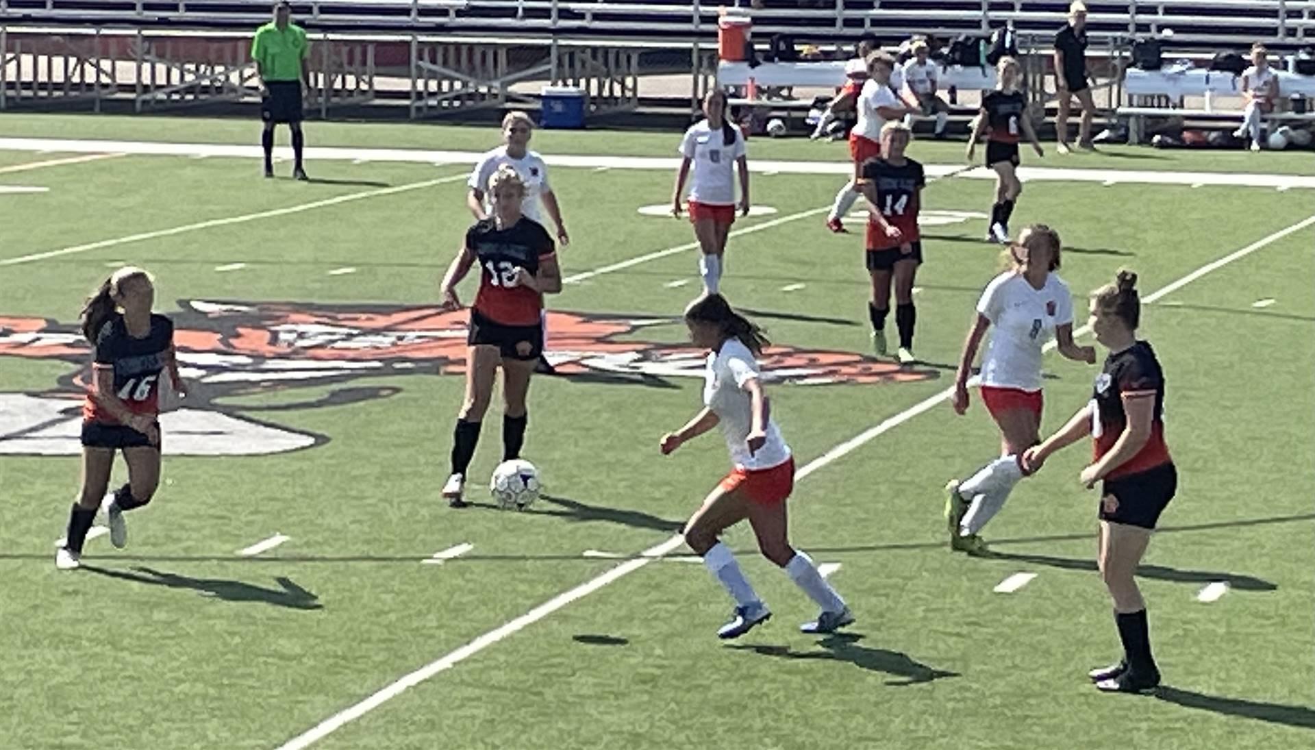 Varsity Girls Soccer taking on Heath at Home