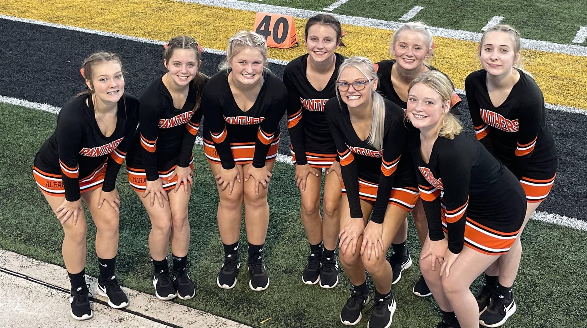 Varsity Cheerleaders at the Tri Valley Game
