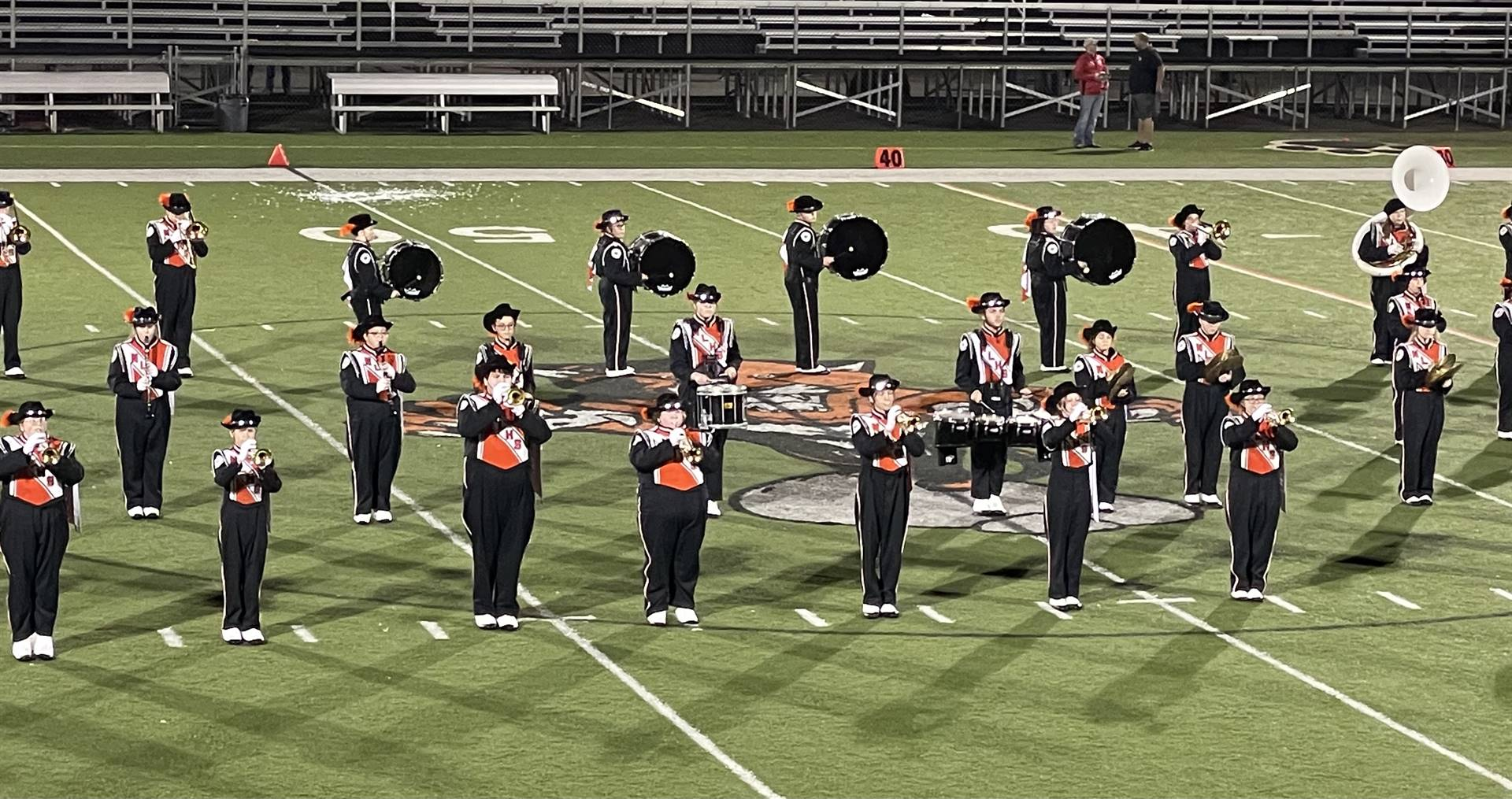 Marching Band Performing at the Coshocton Game