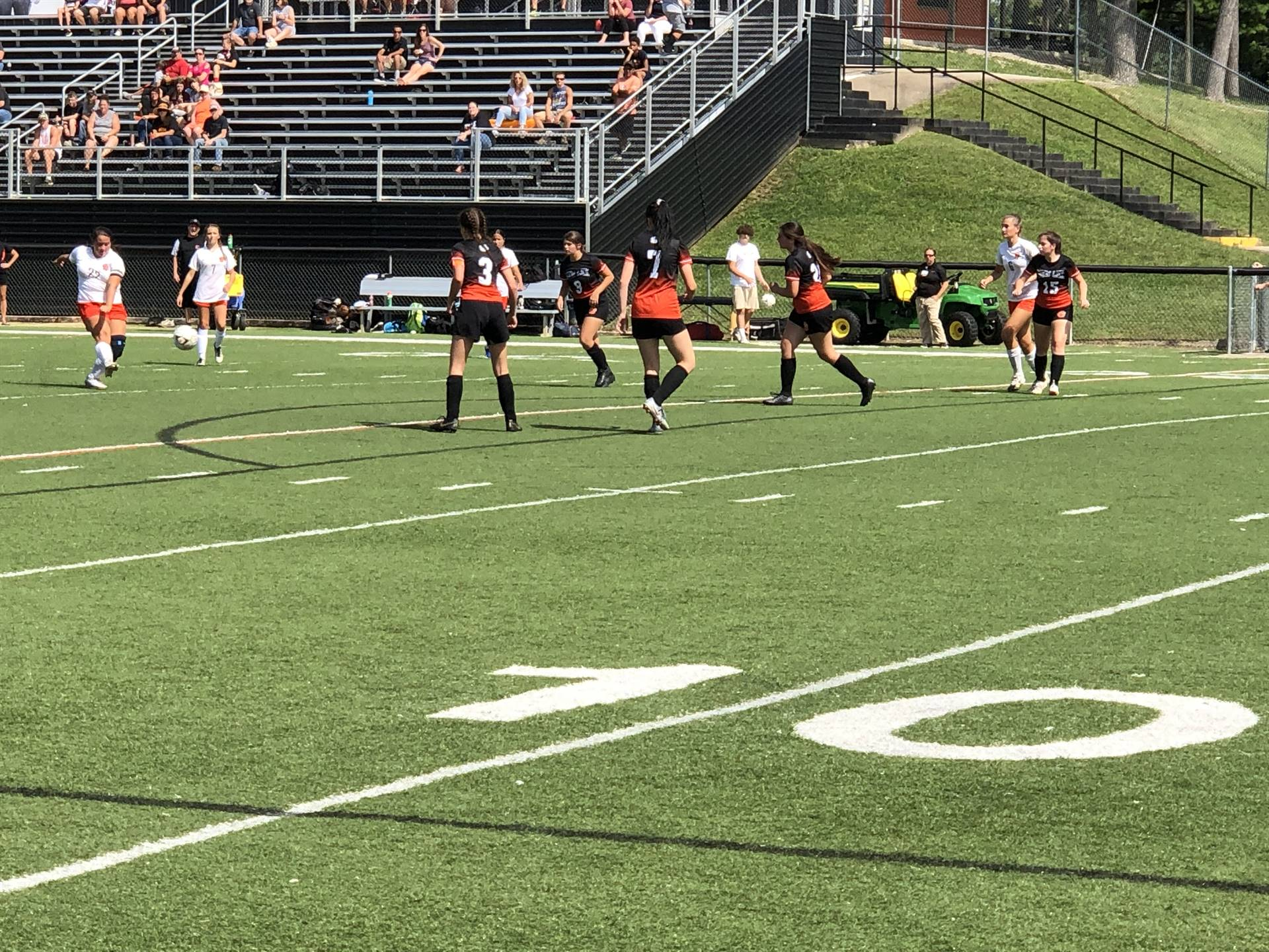 Girls Soccer taking on Heath at Home