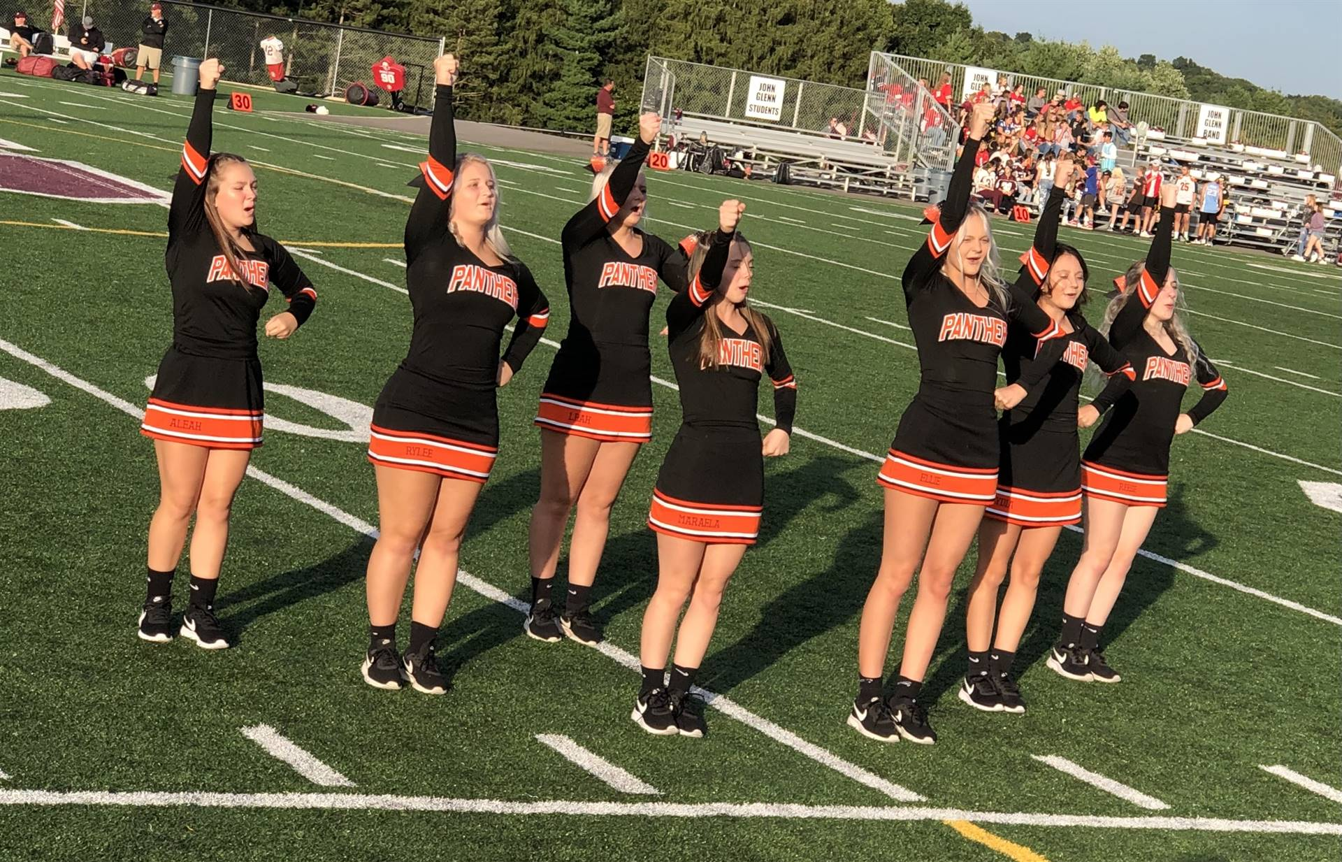 Varsity Cheerleaders at John Glenn
