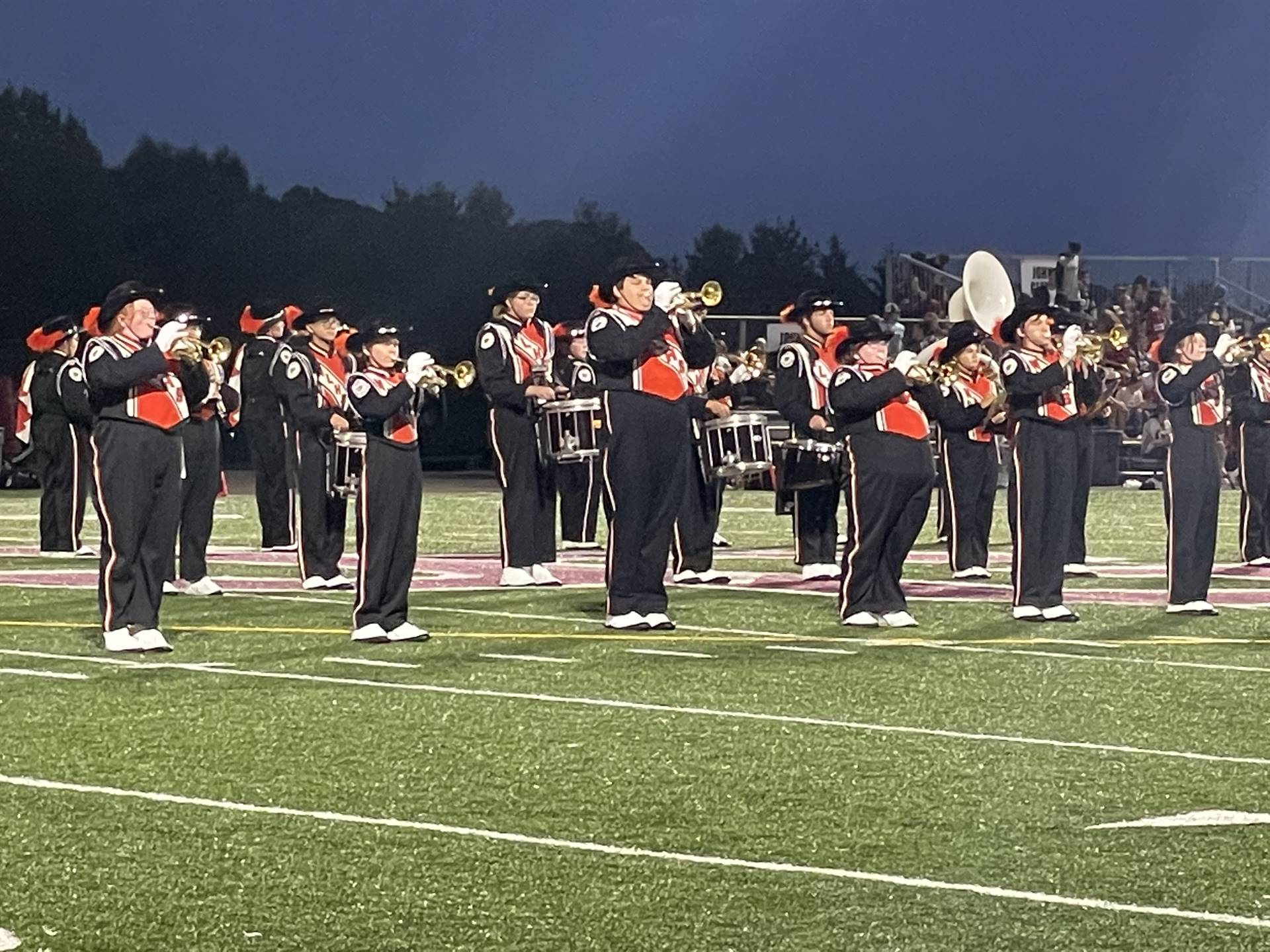 Marching Band Performing at John Glenn