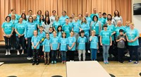 New Lexington Elementary Staff                             and participants in 2019 Special Olympics